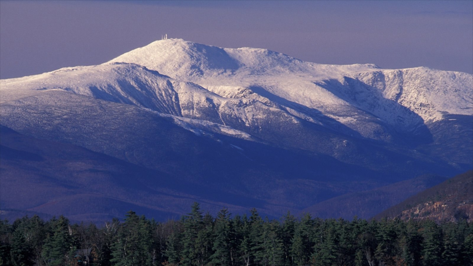 North Conway featuring mountains, snow and landscape views