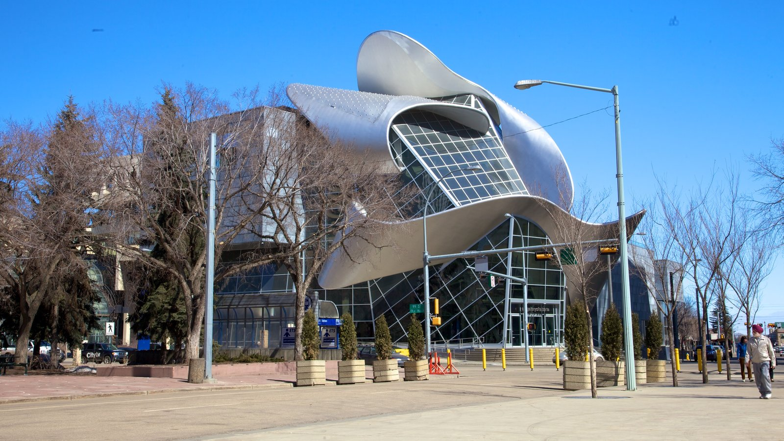Art Gallery of Alberta showing art and modern architecture