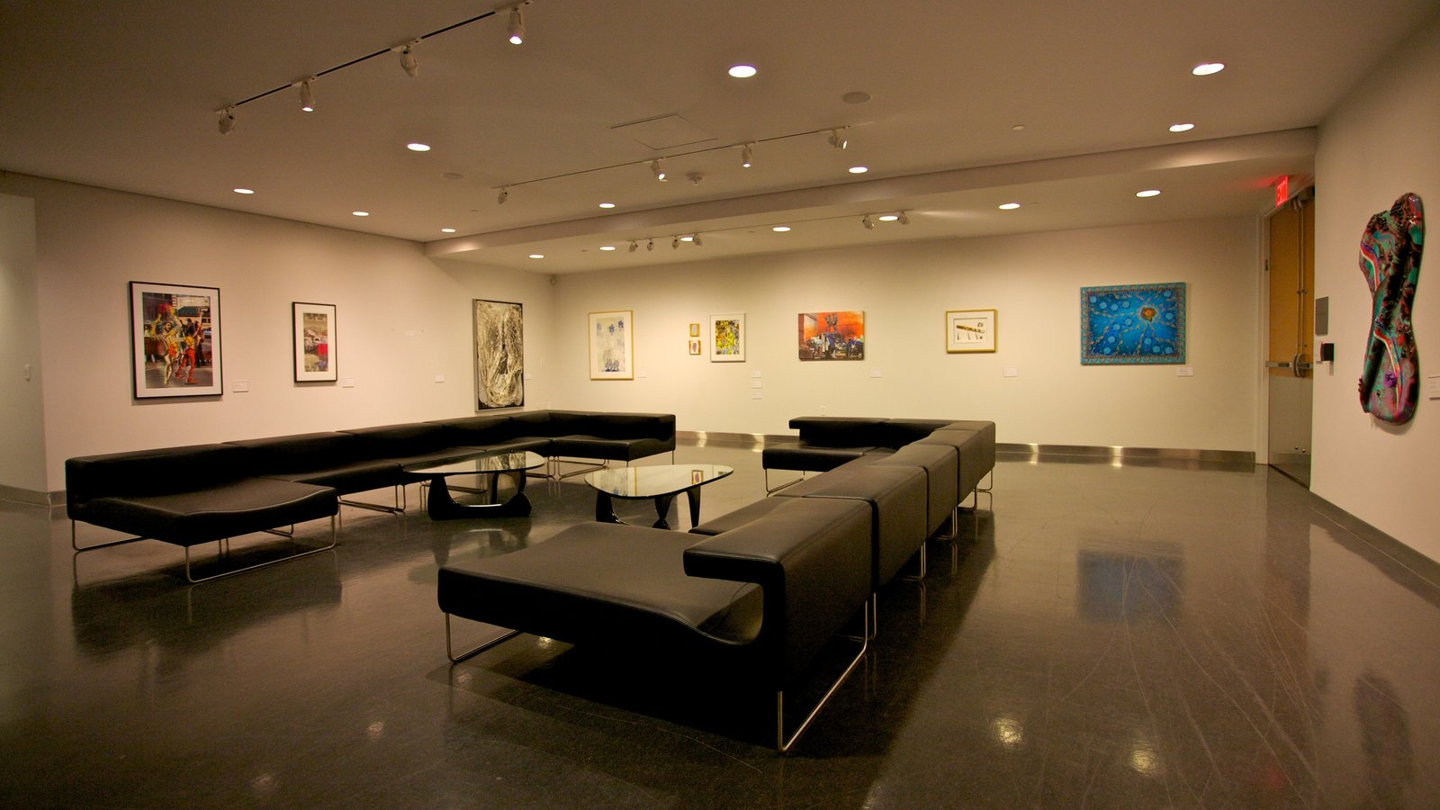 Art Gallery of Alberta featuring interior views and art