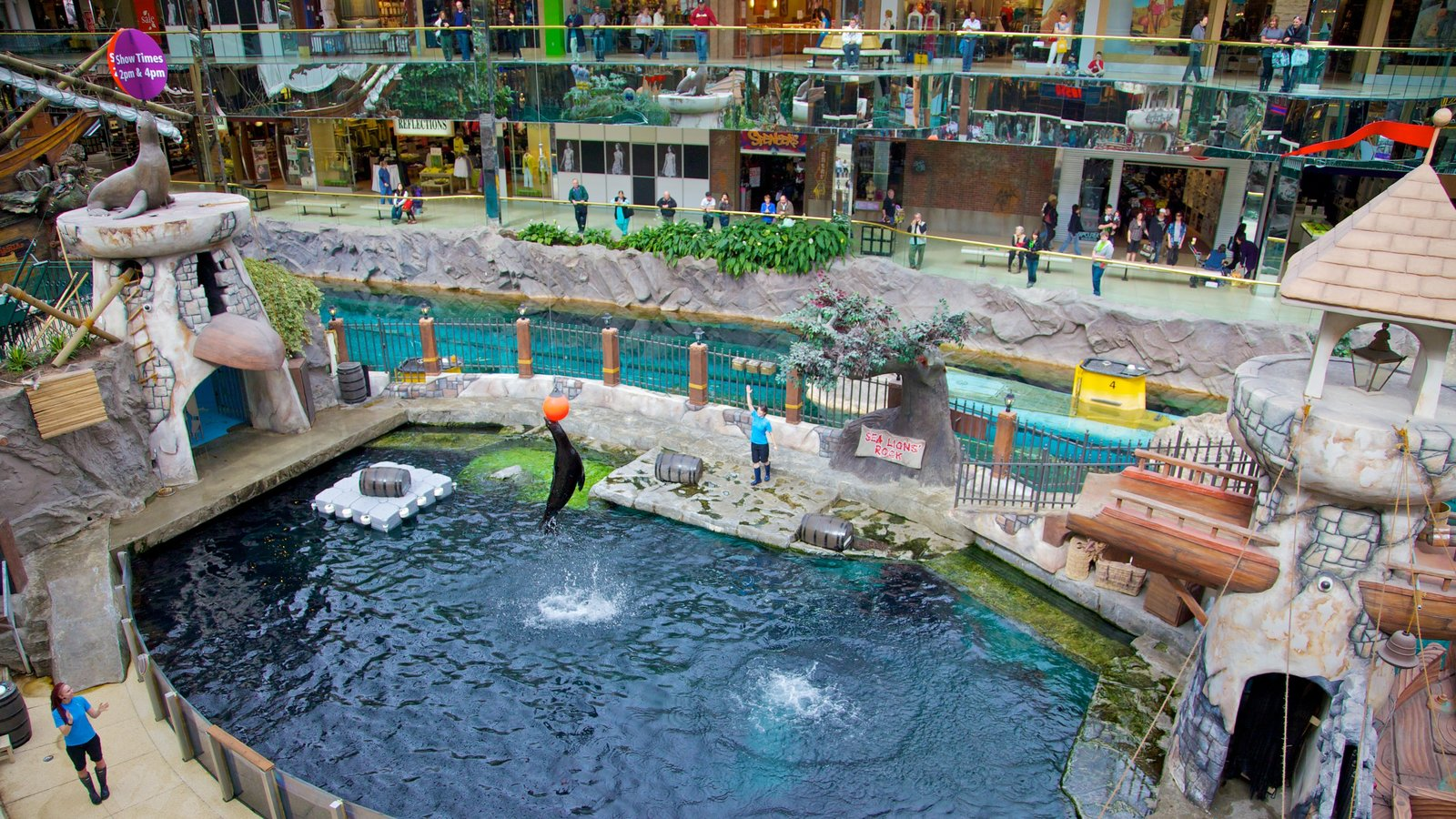 West Edmonton Mall featuring a water park and zoo animals