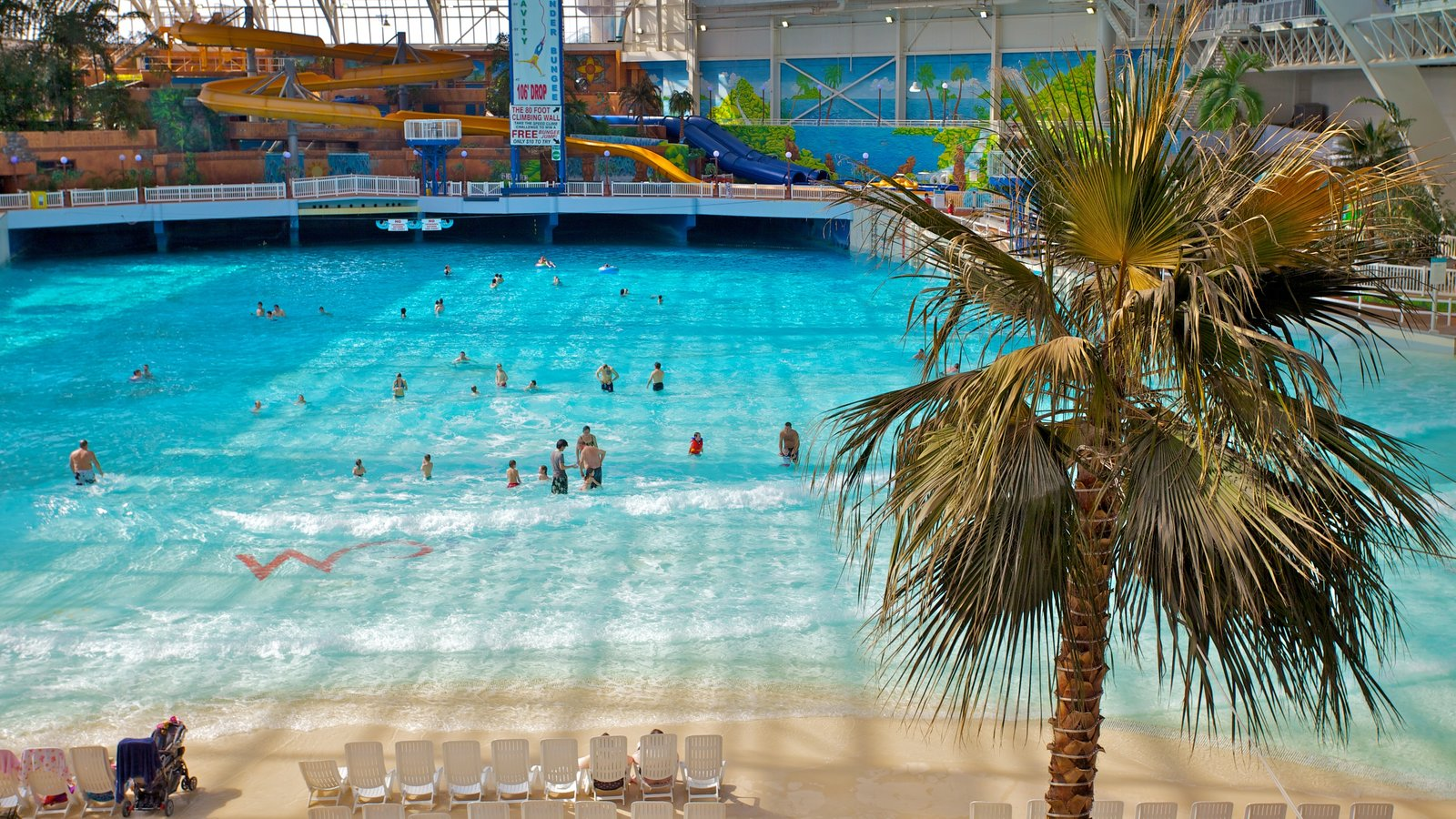 West Edmonton Mall featuring a pool, a water park and shopping
