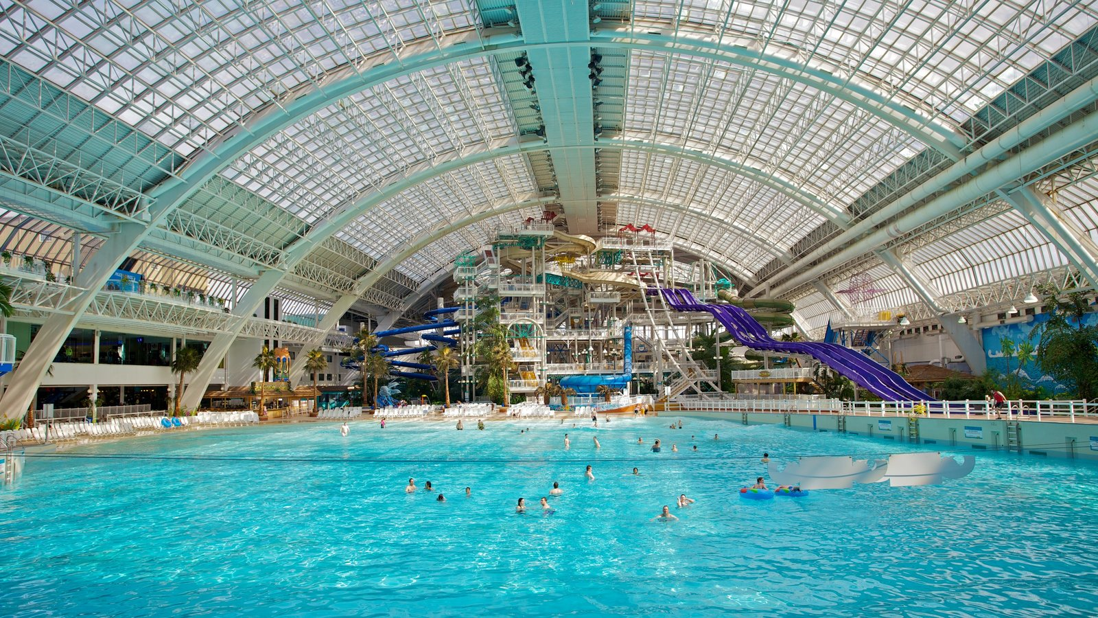 West Edmonton Mall featuring interior views, a pool and swimming