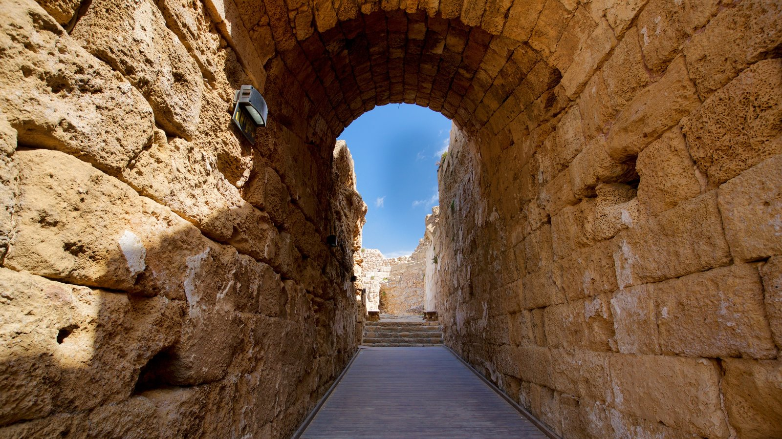 Caesarea Amphitheater which includes heritage elements