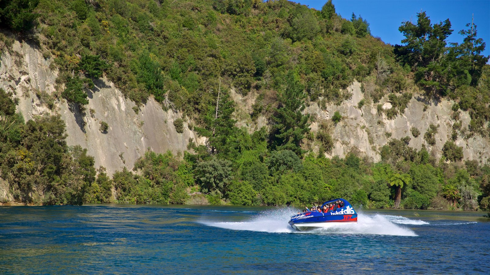 Taupo featuring boating and general coastal views