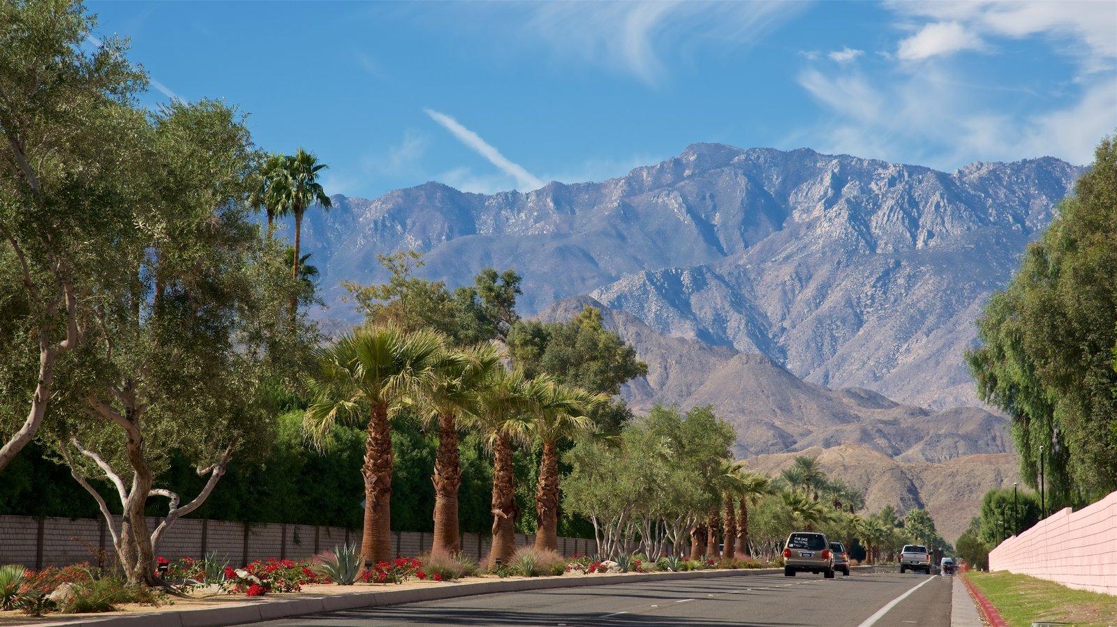 Palm Springs ofreciendo montañas