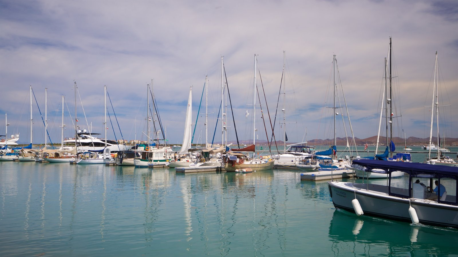 Puerto deportivo Marina Cortez que incluye una bahía o puerto