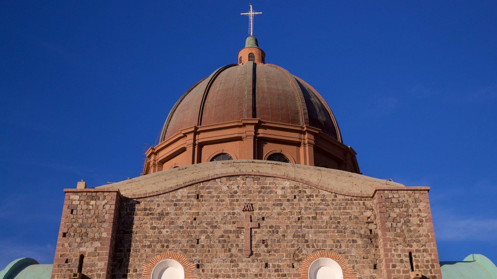 Santuario de la Virgen de Guadalupe mostrando una iglesia o catedral y elementos del patrimonio