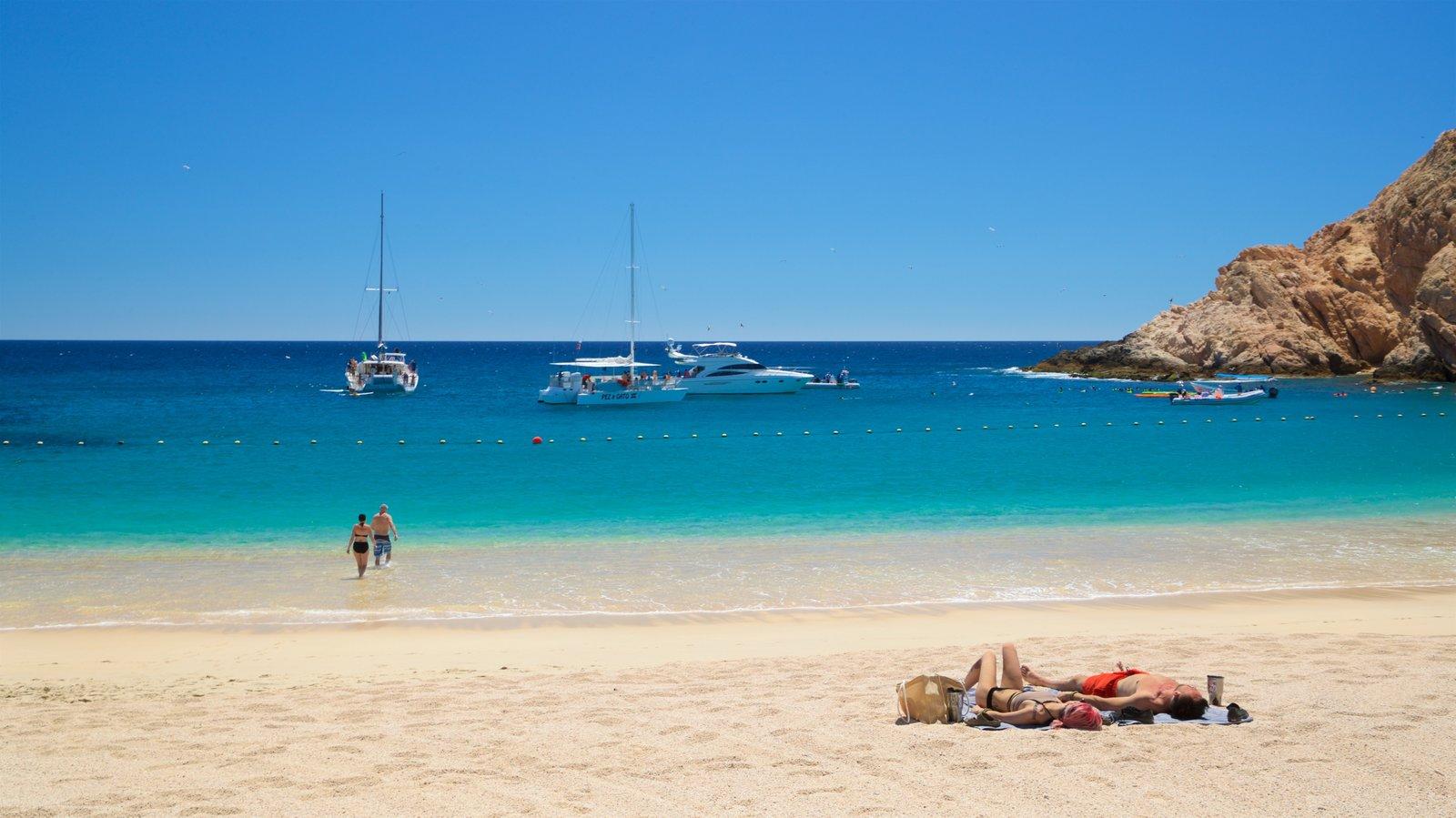 Santa Maria Beach featuring general coastal views and a sandy beach as well as a couple
