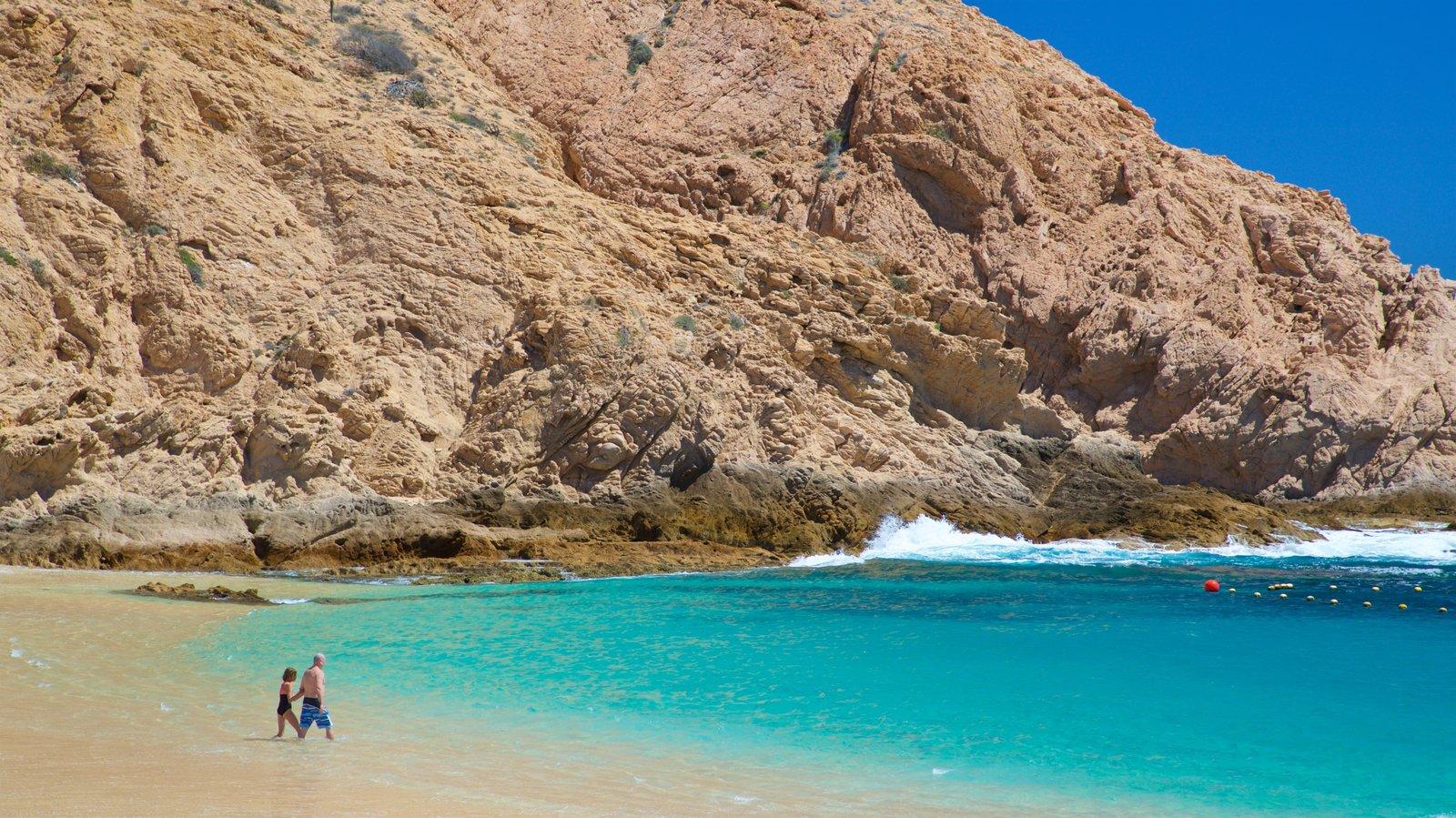 Santa Maria Beach showing a sandy beach, rugged coastline and general coastal views