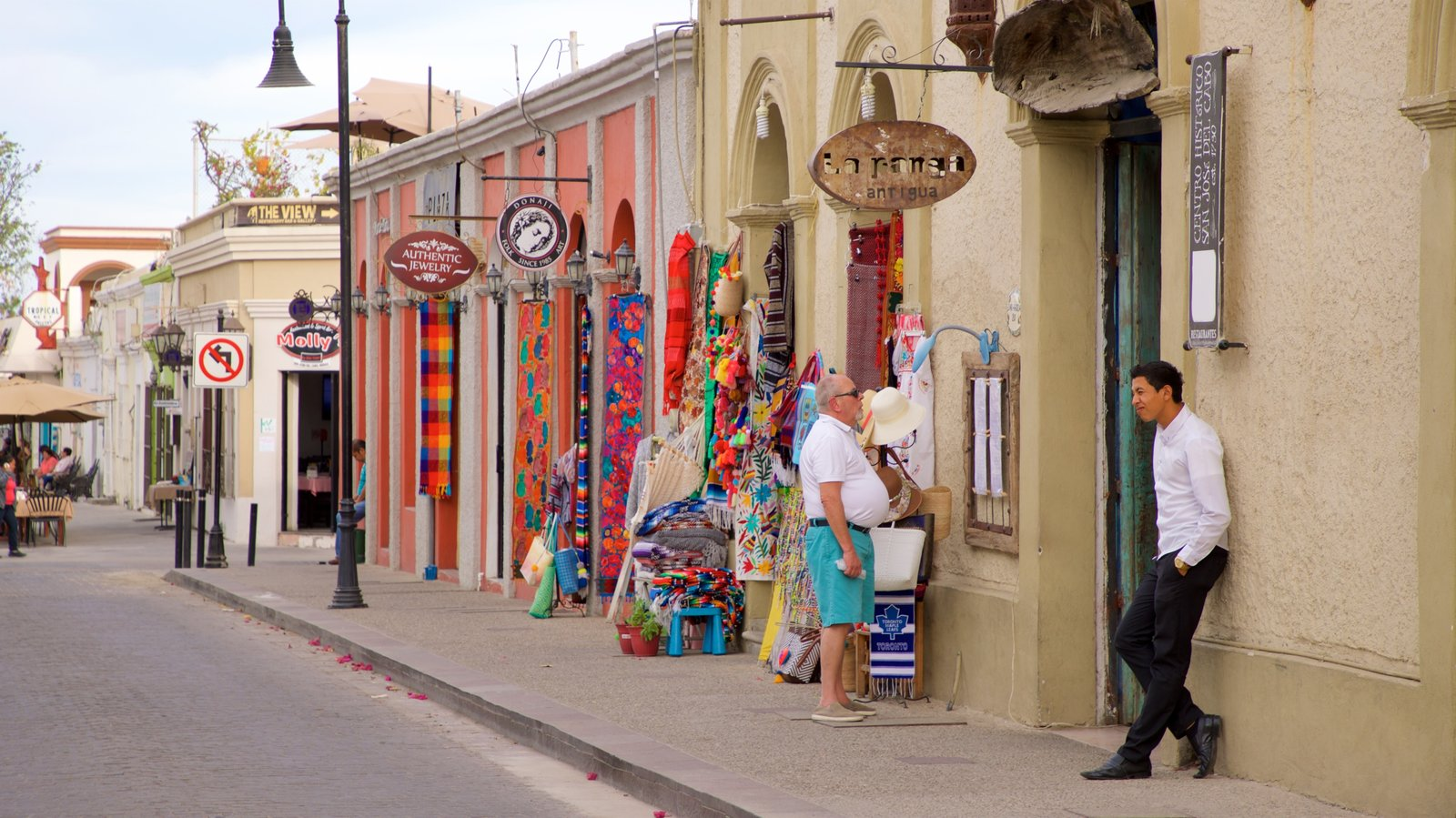 San Jose del Cabo Art District which includes street scenes as well as an individual male