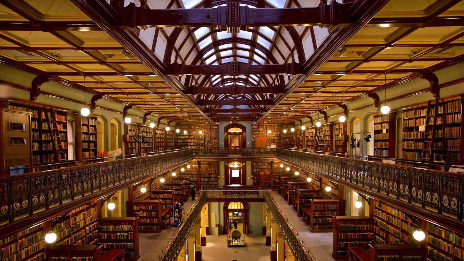 State Library of South Australia que inclui vistas internas e elementos de patrimônio