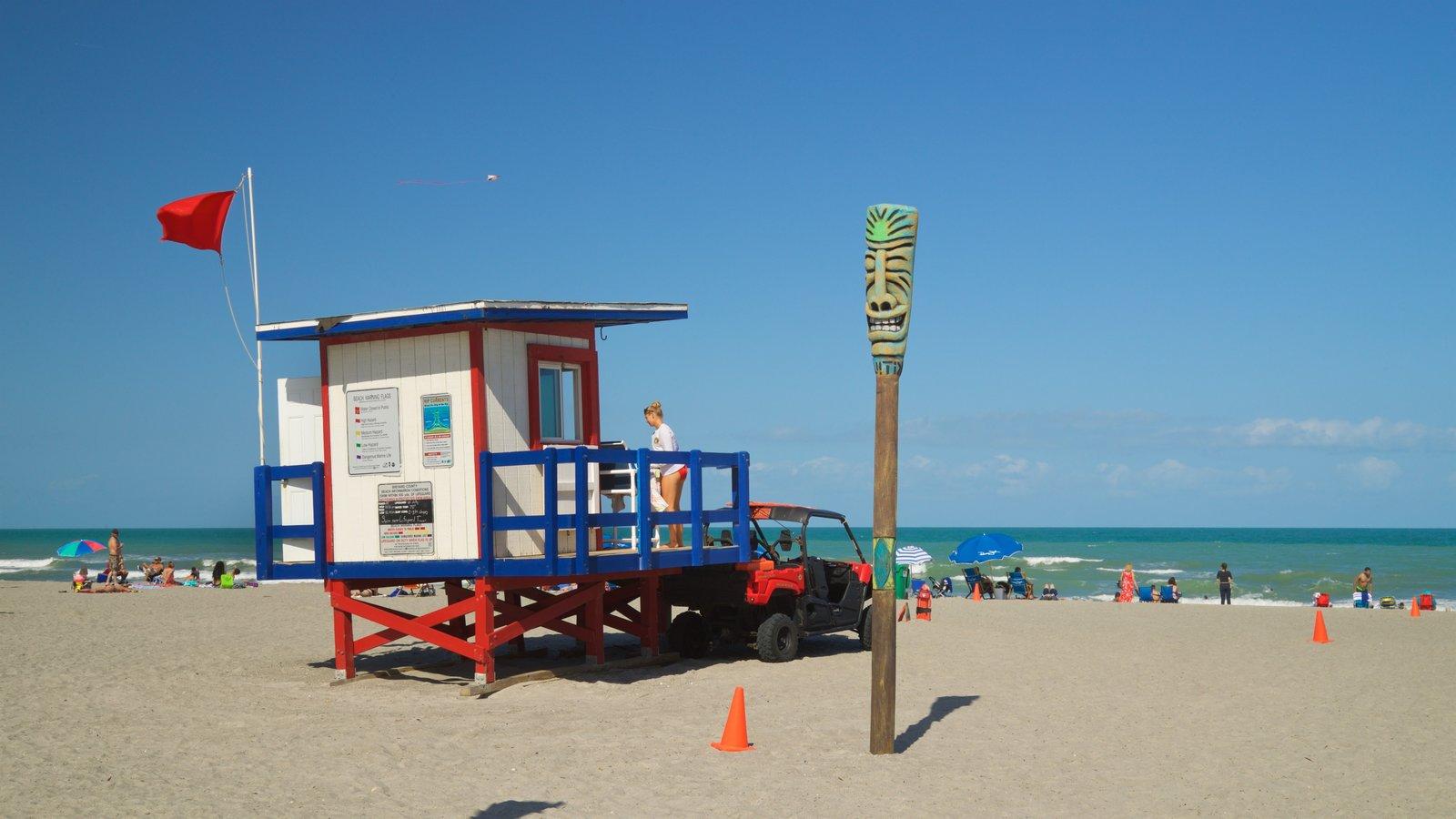 Cocoa Beach which includes a sandy beach and general coastal views