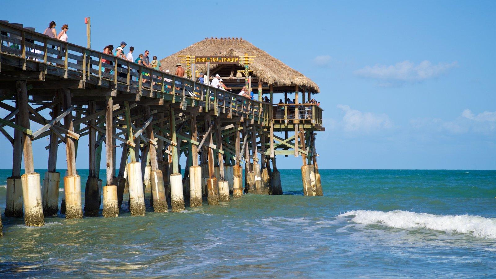 Cocoa Beach Pier which includes general coastal views