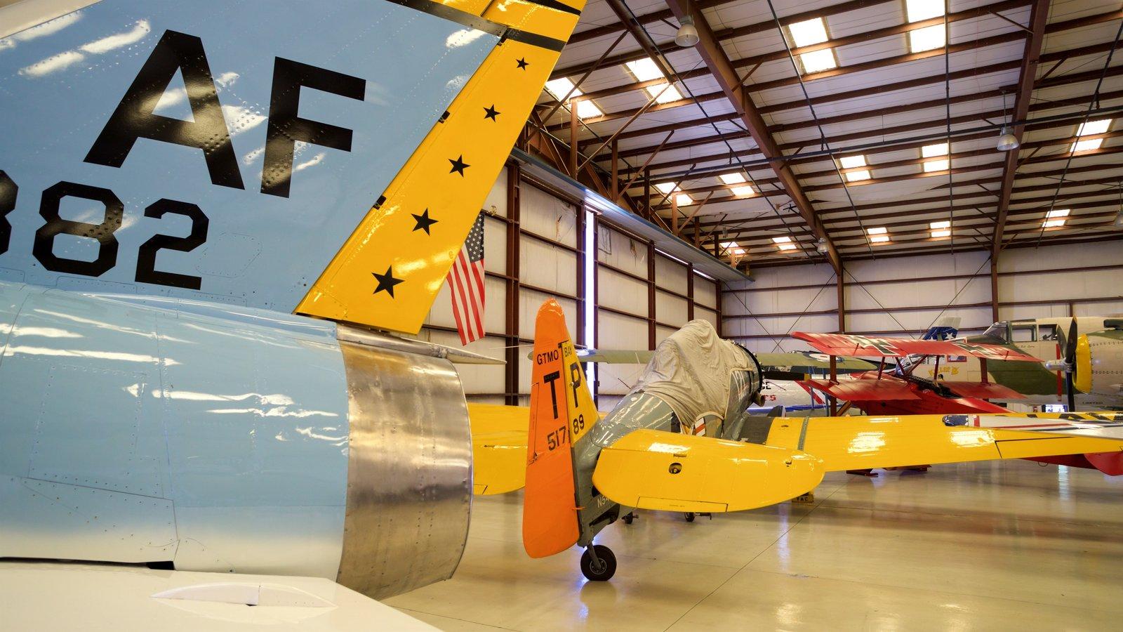 Valiant Air Command Warbird Museum featuring interior views