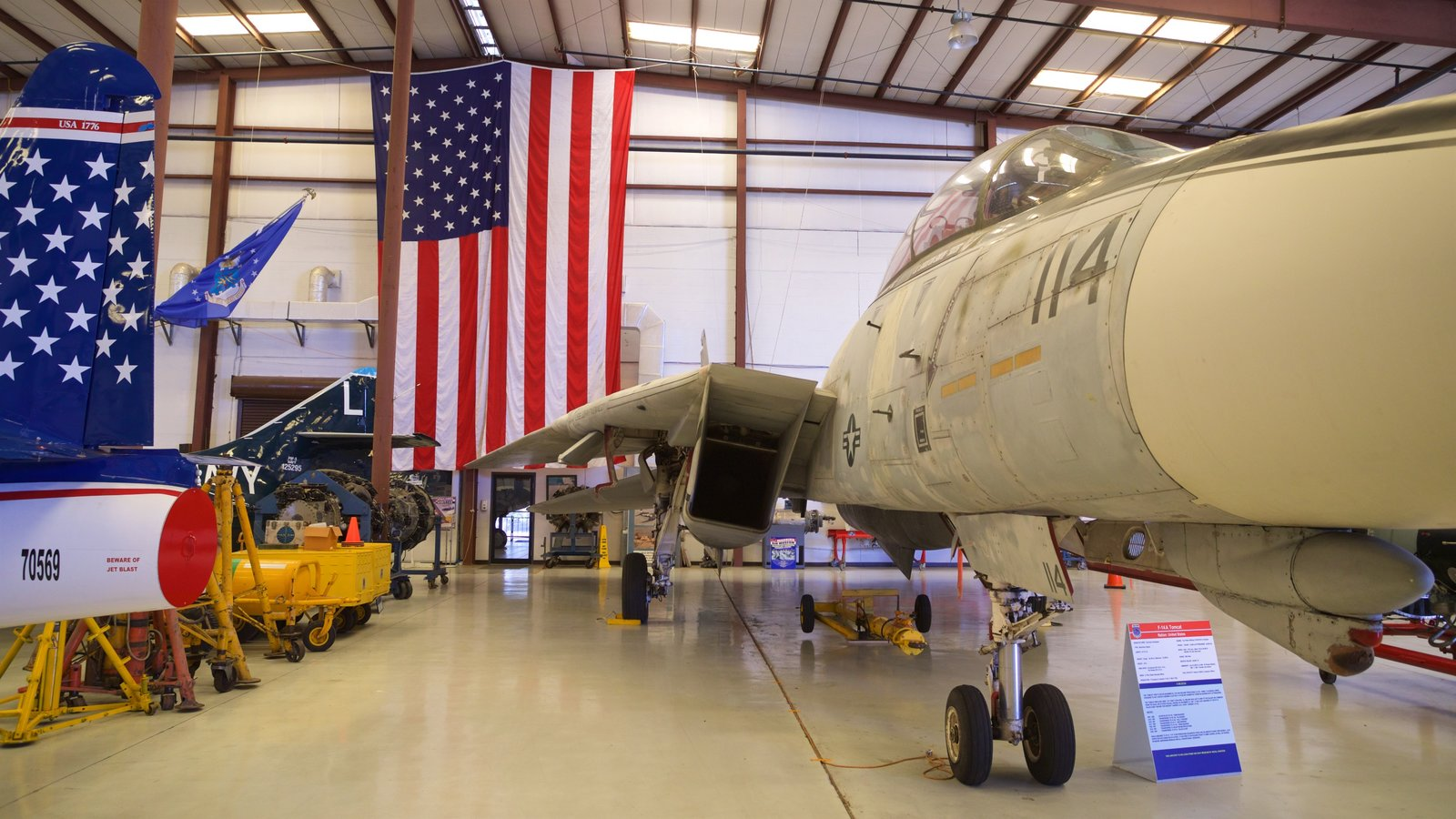 Valiant Air Command Warbird Museum showing military items and interior views