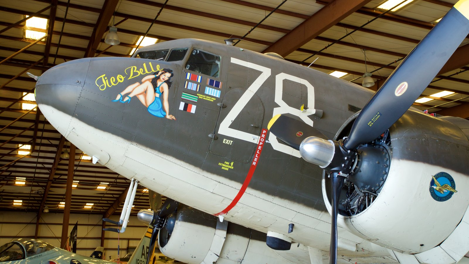 Valiant Air Command Warbird Museum featuring military items and interior views
