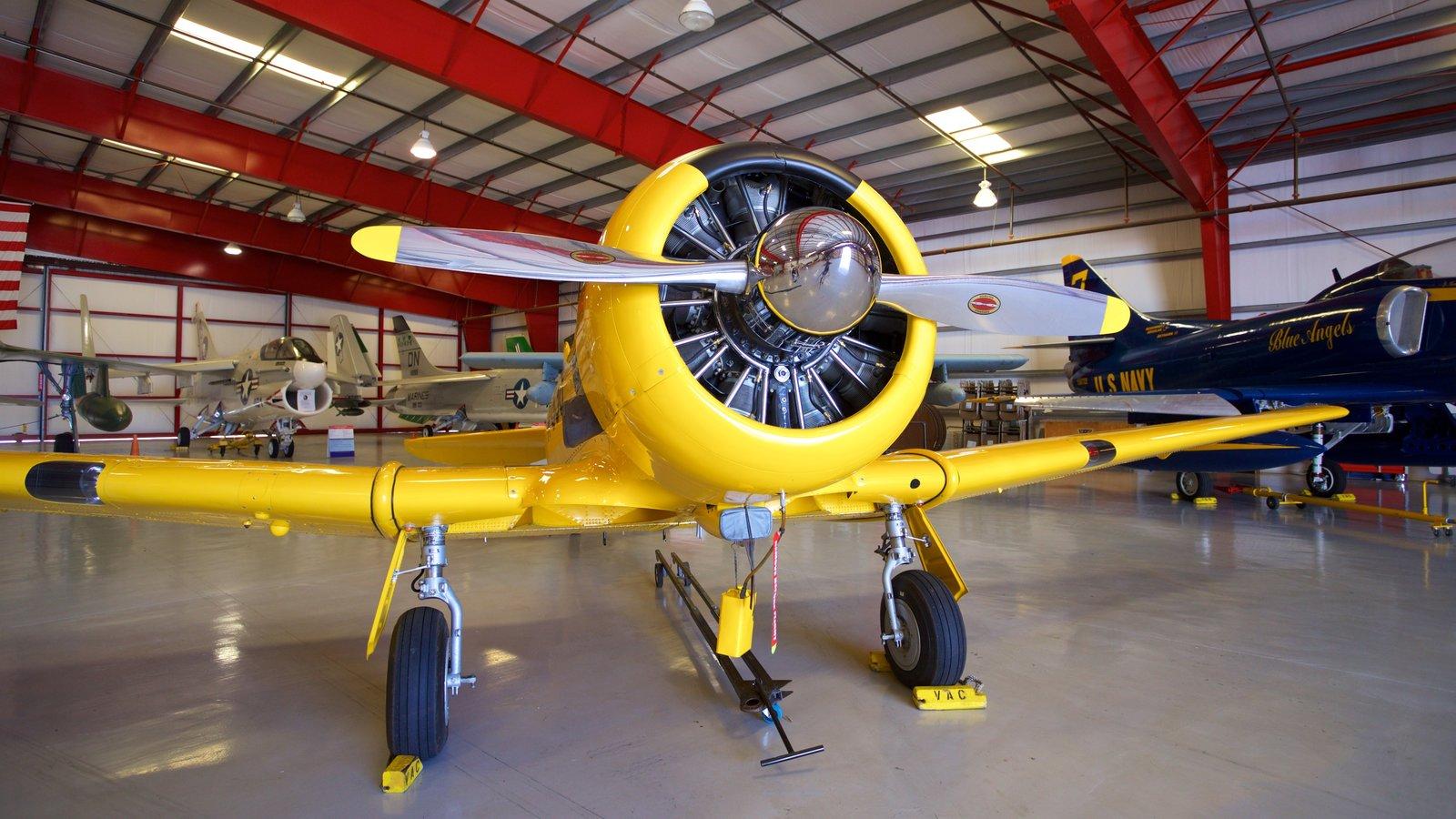 Valiant Air Command Warbird Museum showing interior views