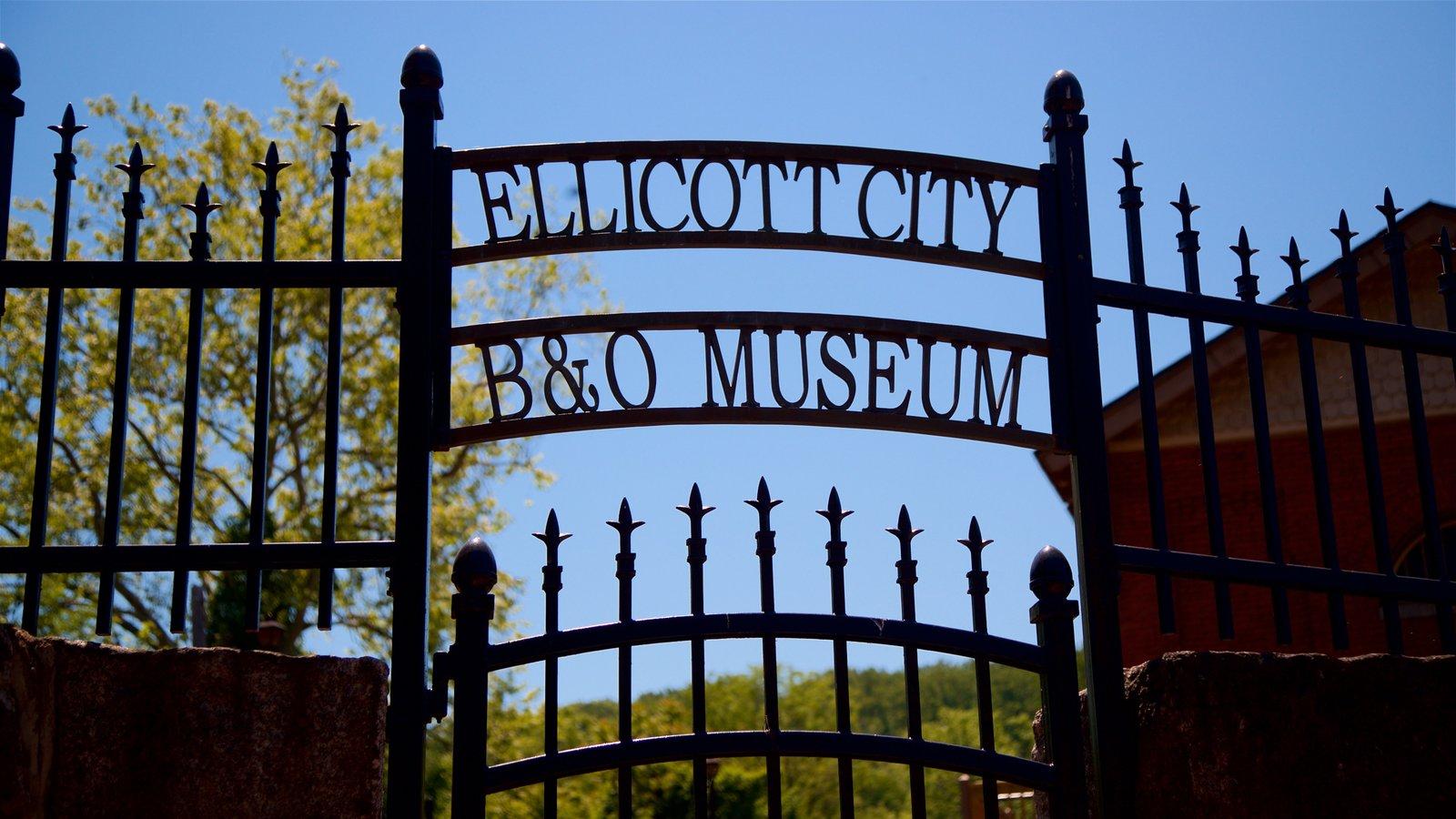 Museo de estación de ferrocarril B&O mostrando señalización