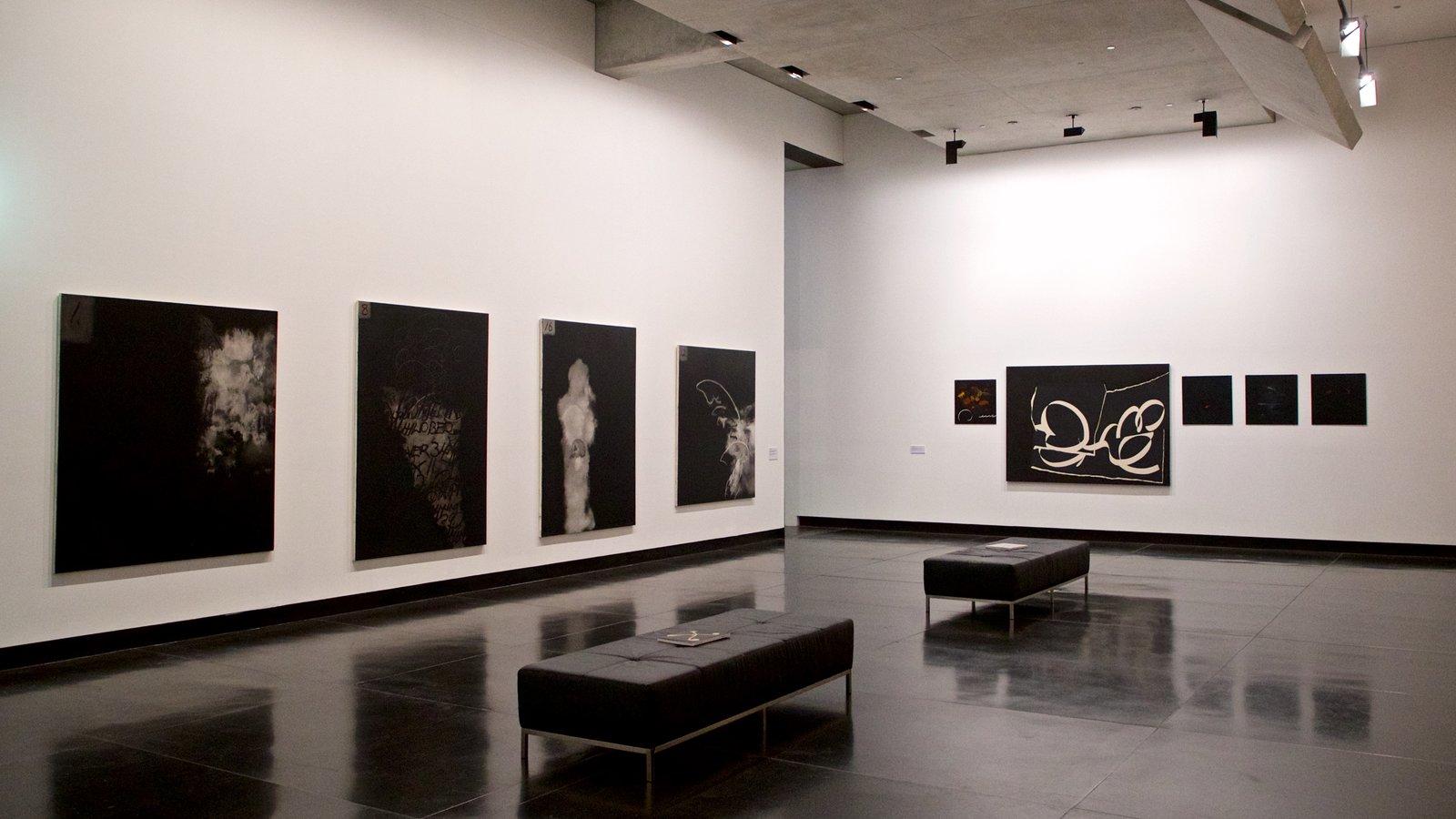 Museo de arte Ian Potter que incluye arte y vistas interiores