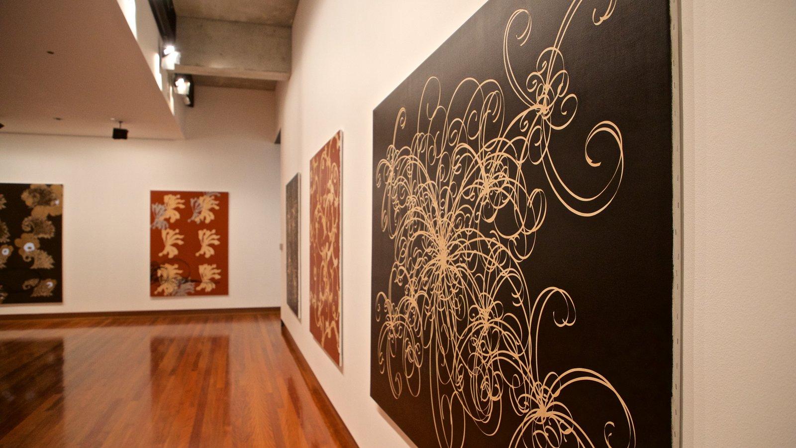 Museo de arte Ian Potter ofreciendo arte y vistas interiores