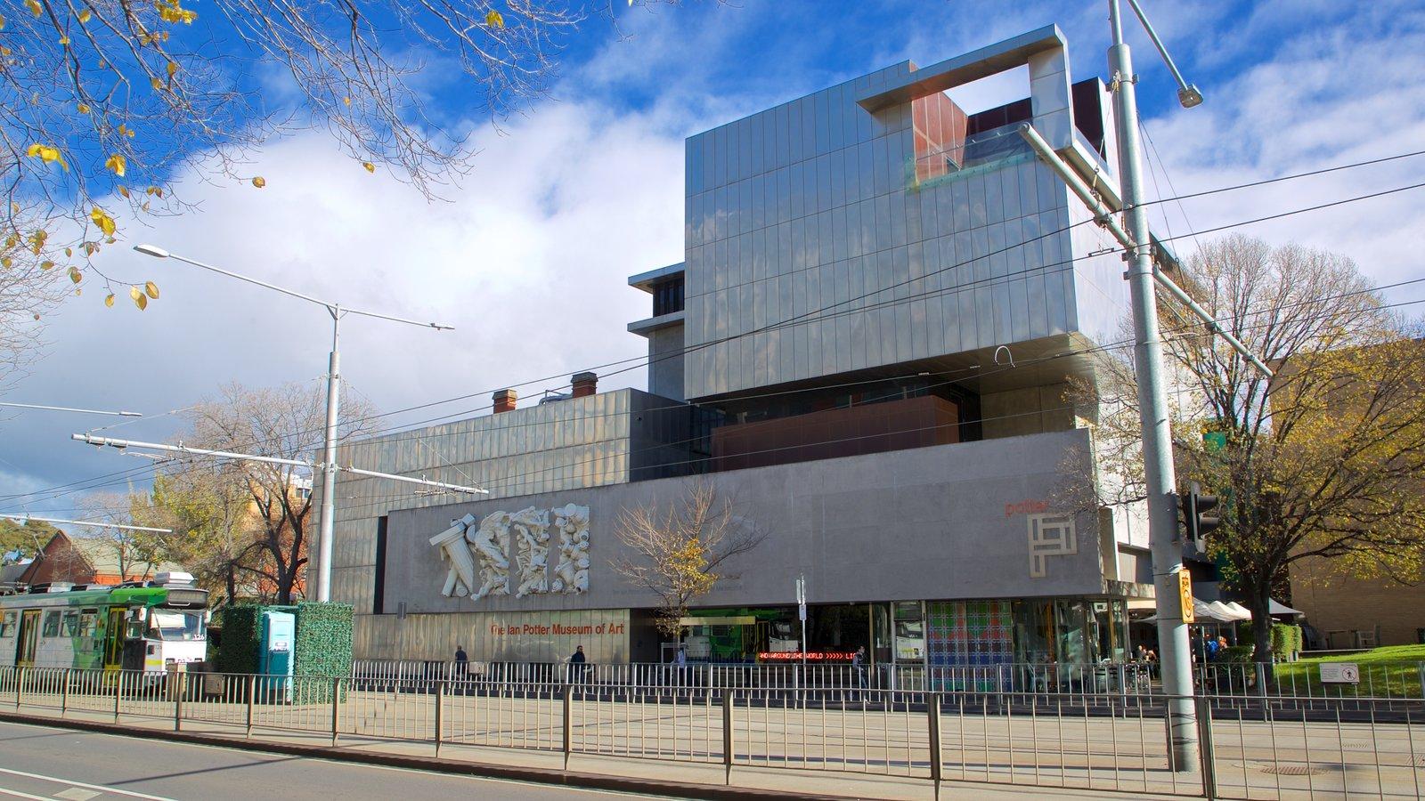 Museo de arte Ian Potter que incluye arquitectura moderna