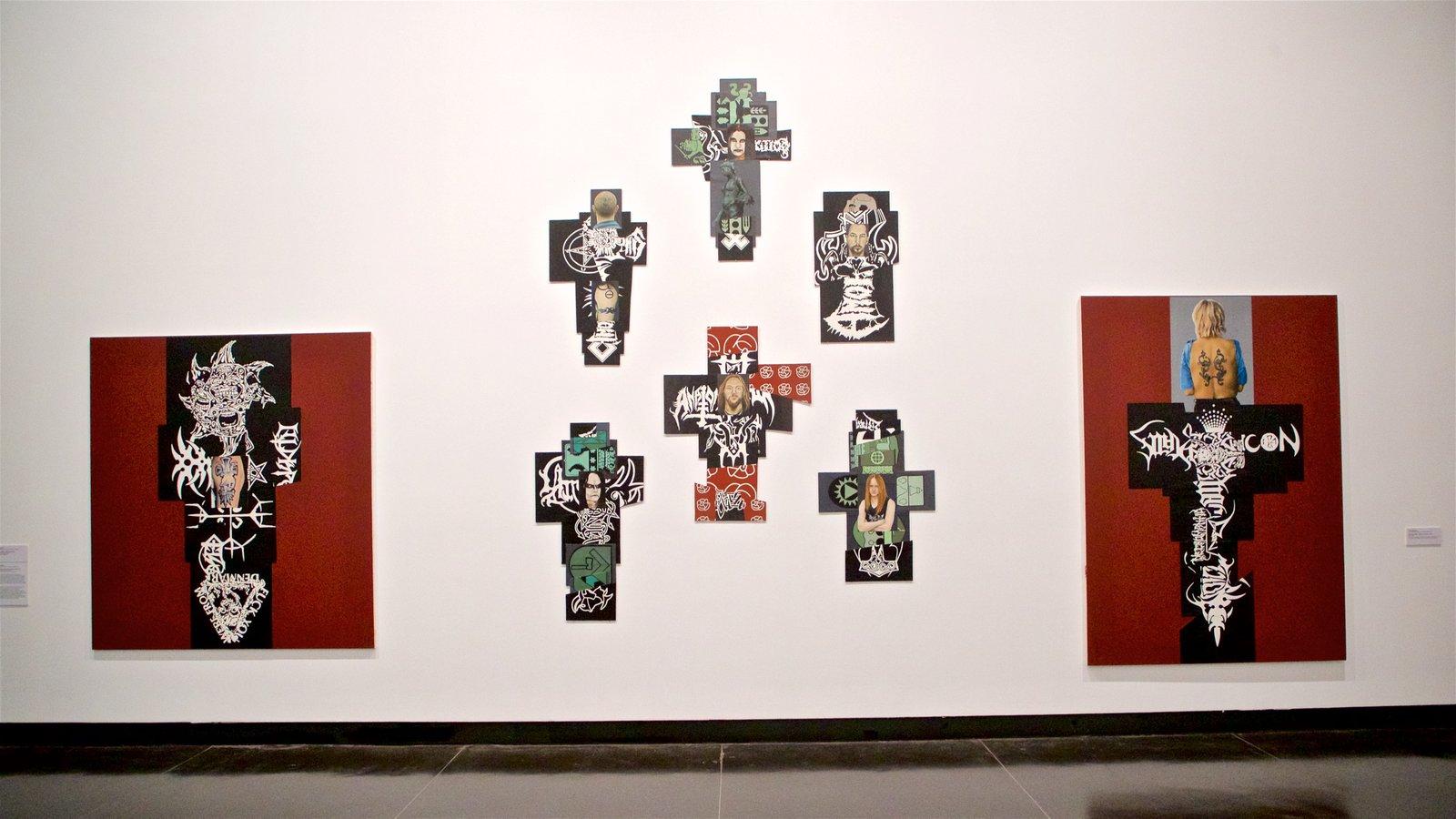 Museo de arte Ian Potter que incluye vistas interiores y arte