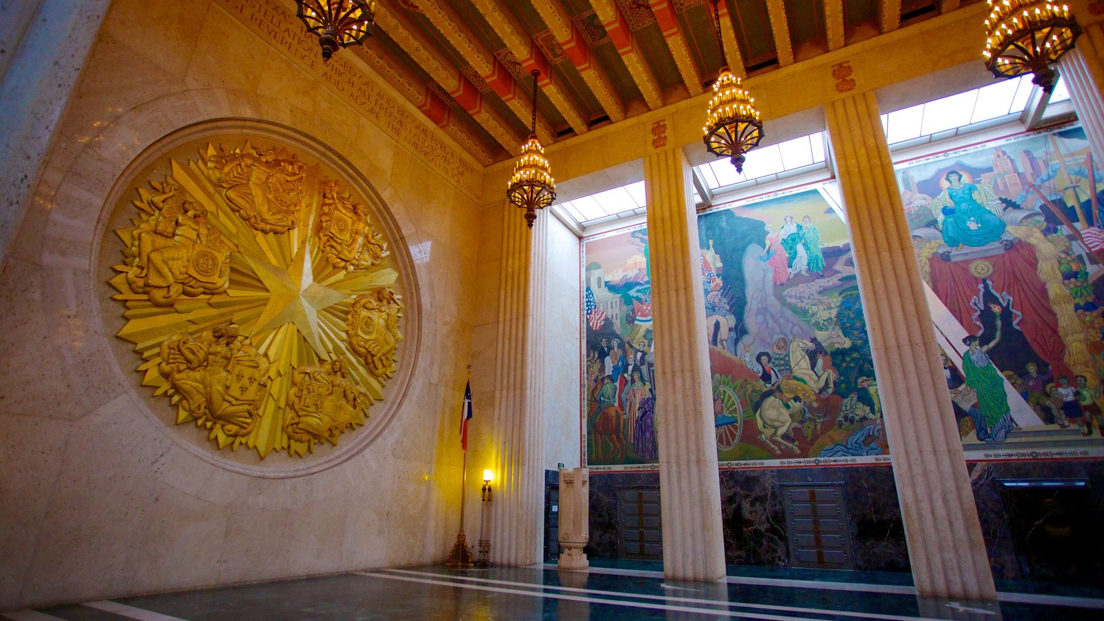 Hall of State which includes interior views and art
