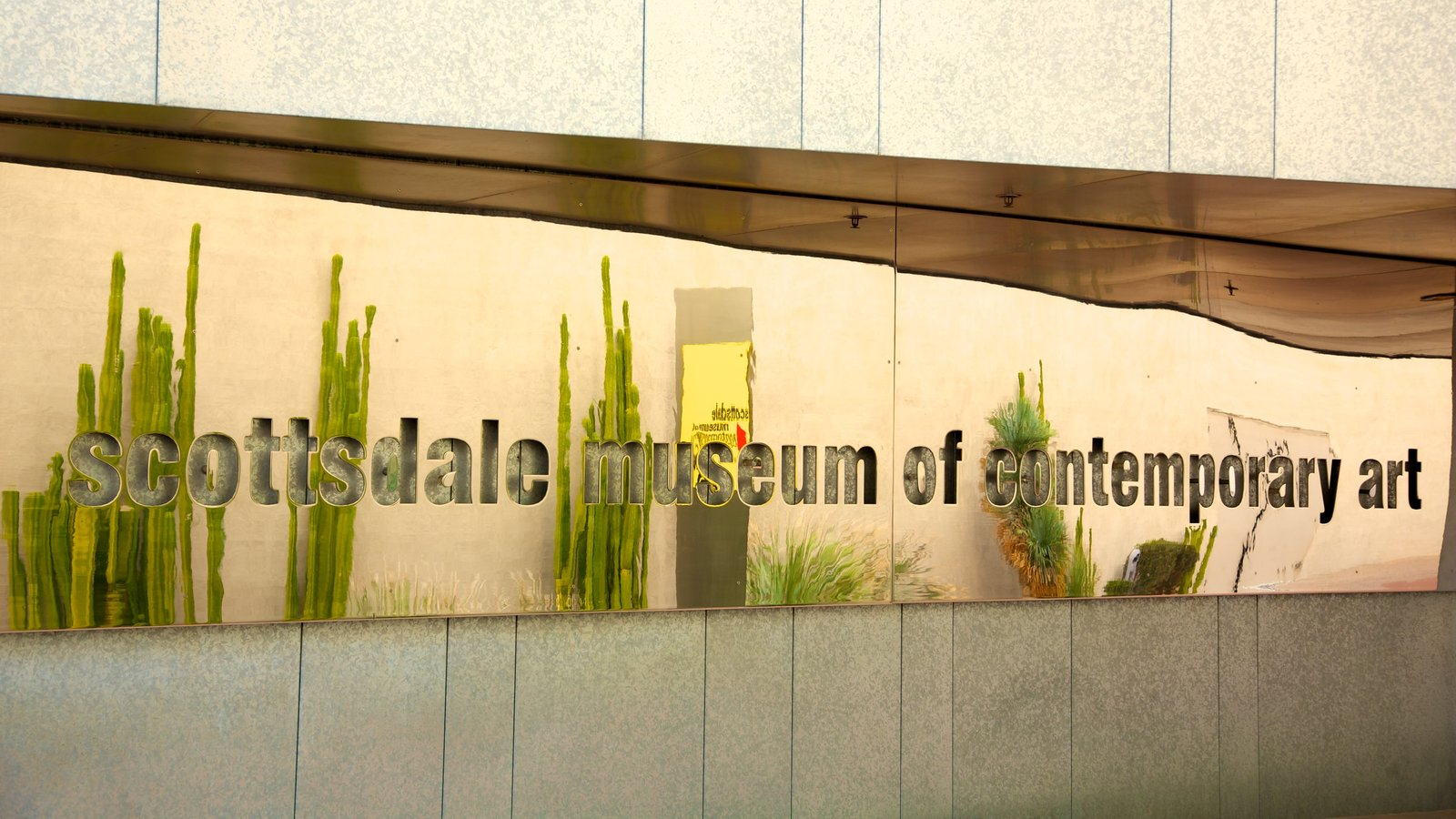 Scottsdale Museum of Contemporary Art showing signage, art and modern architecture