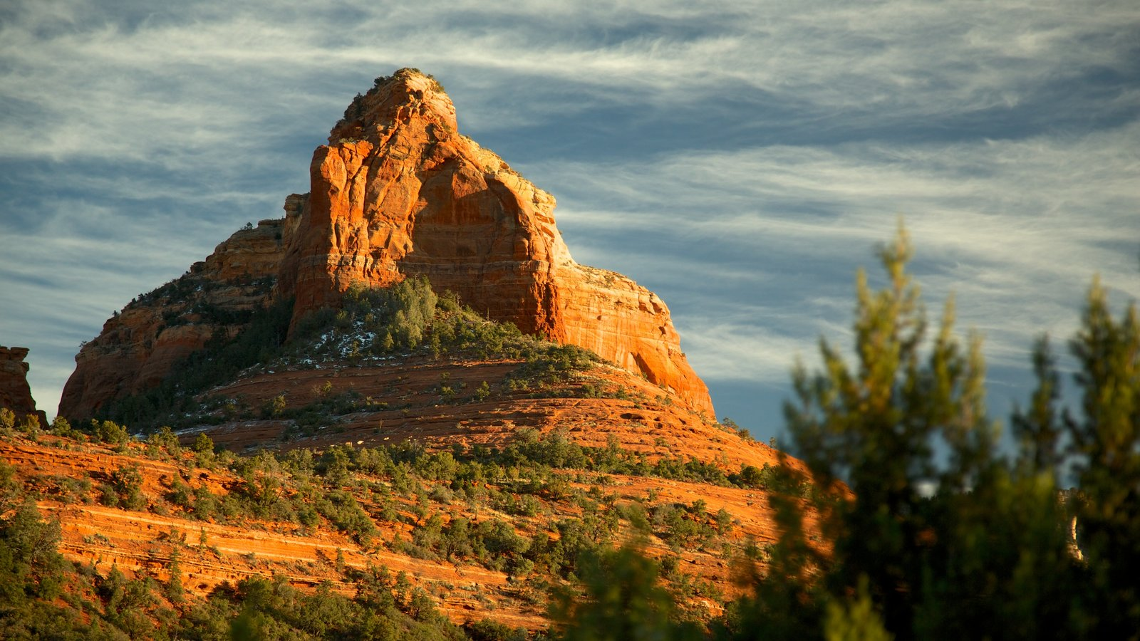 Sedona que inclui paisagem e montanhas