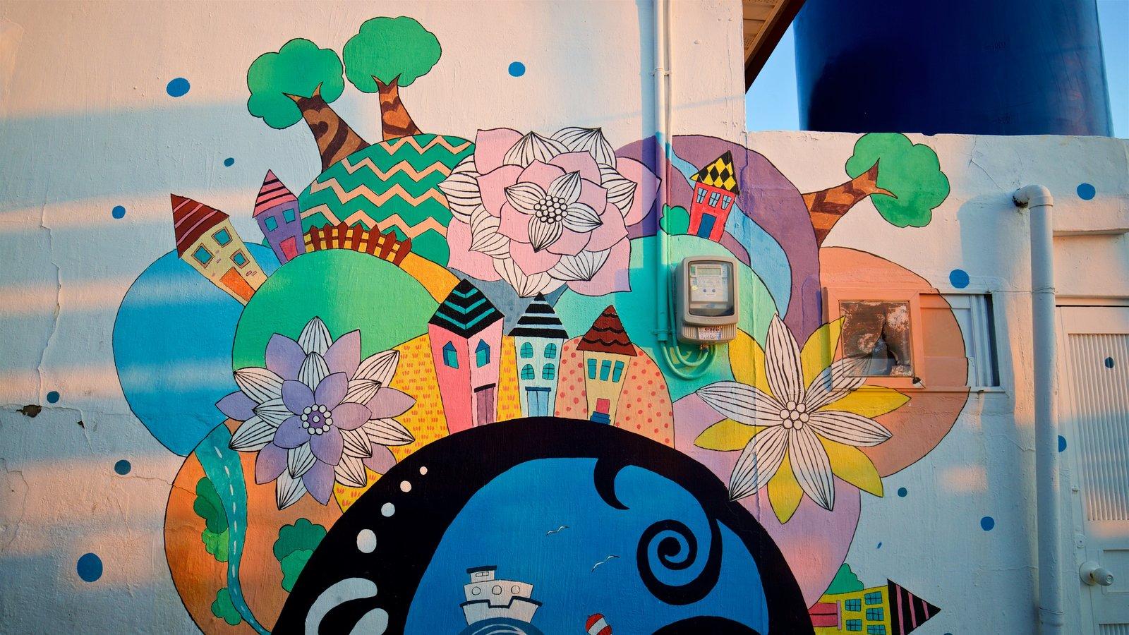 Aldea de muros pintados de Dongpirang que incluye arte al aire libre