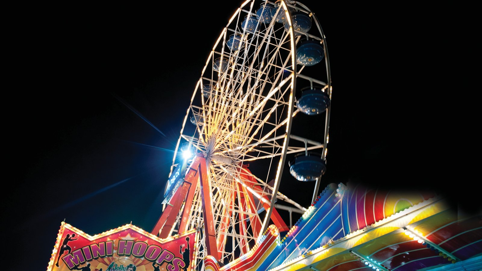 Ocean City showing rides and night scenes