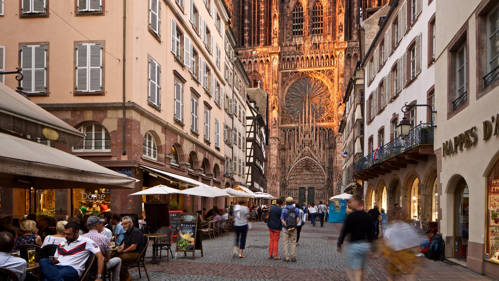 Our Lady of Strasbourg Cathedral featuring street scenes, a church or cathedral and heritage architecture