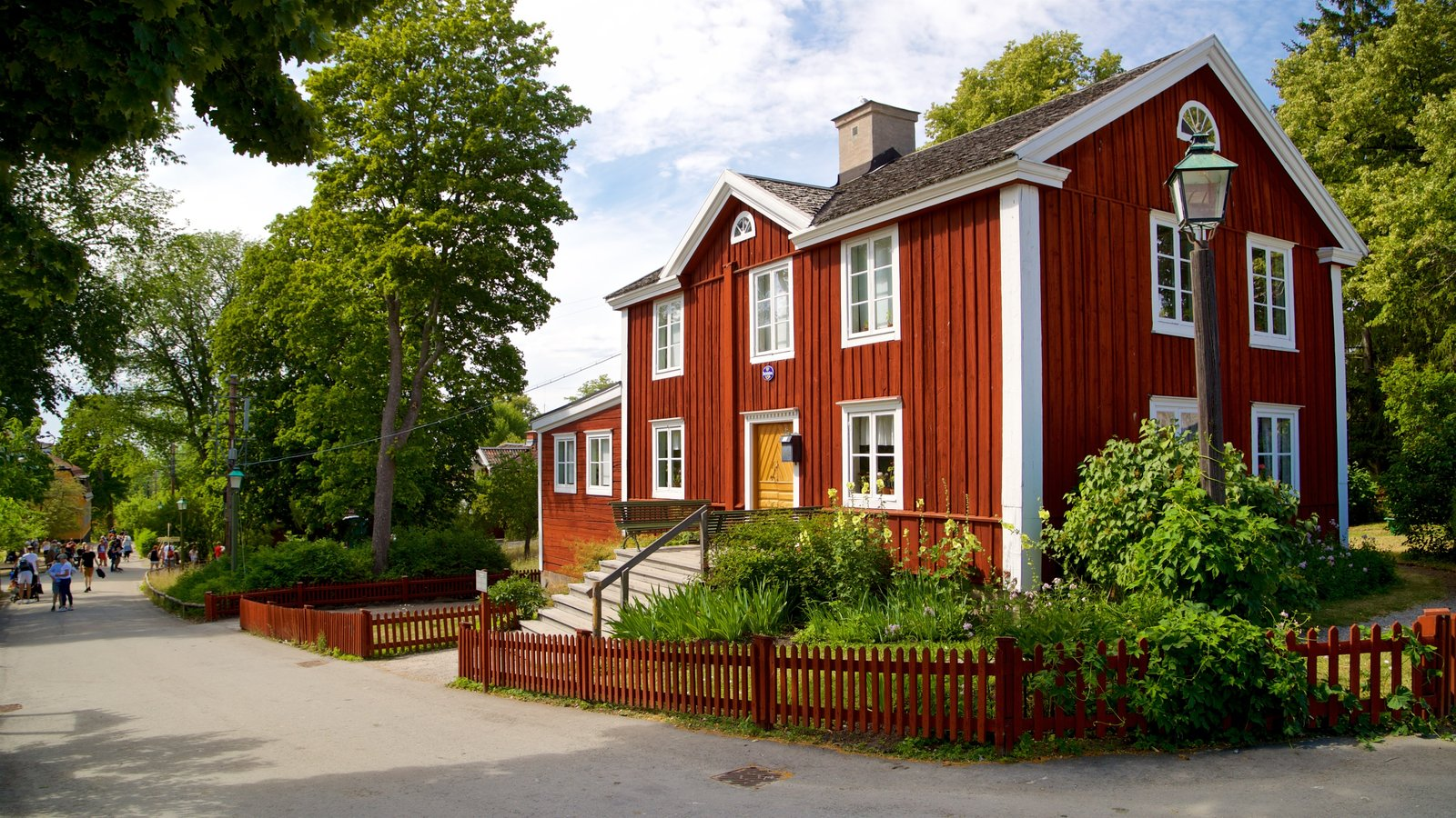 Skansen featuring heritage architecture and a small town or village
