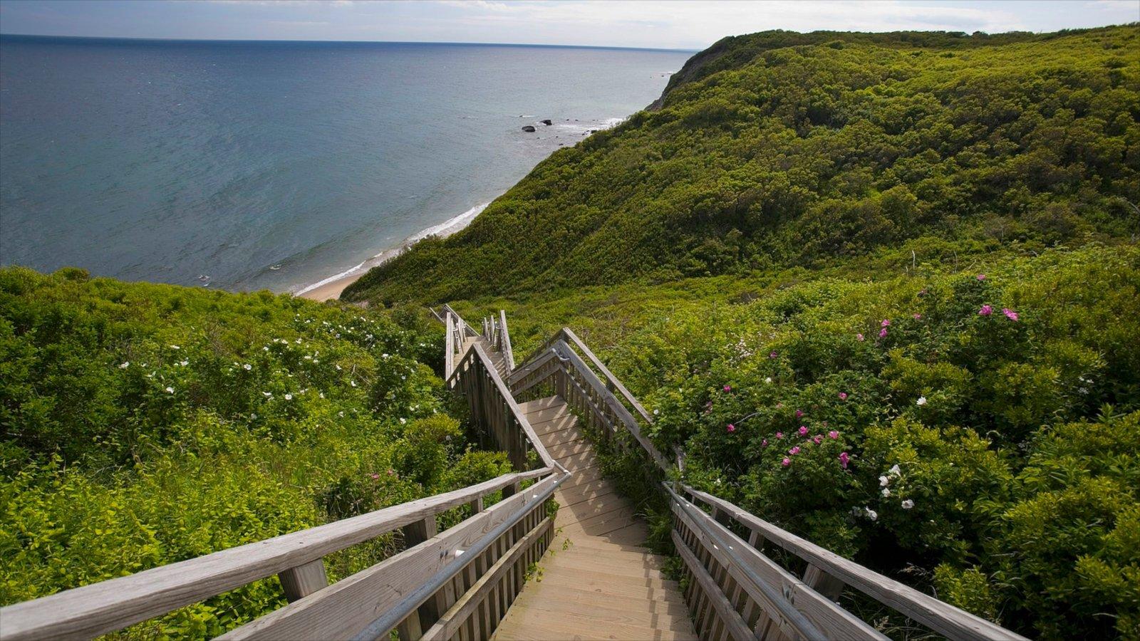 Isla Block ofreciendo vistas generales de la costa