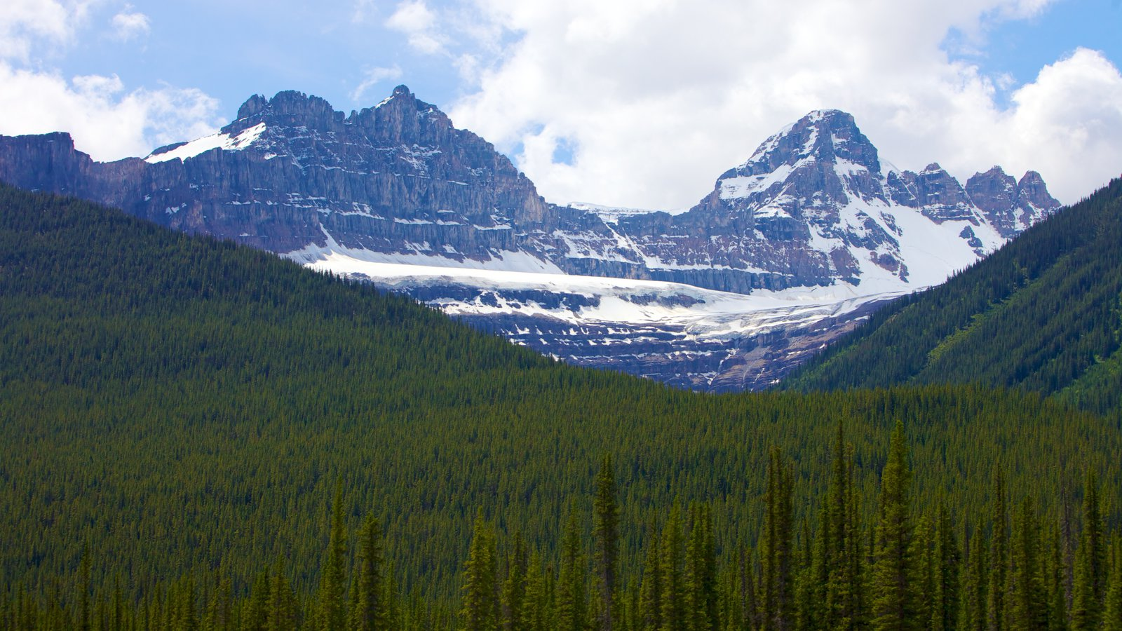 Jasper National Park South Entrance which includes mountains and landscape views