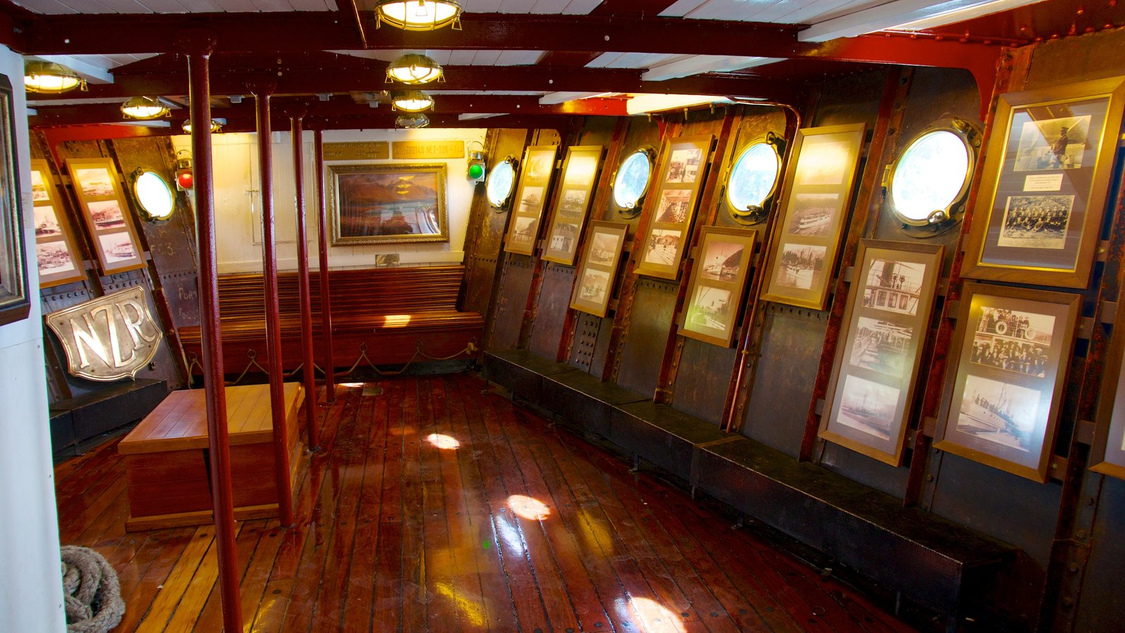 TSS Earnslaw Steamship featuring interior views