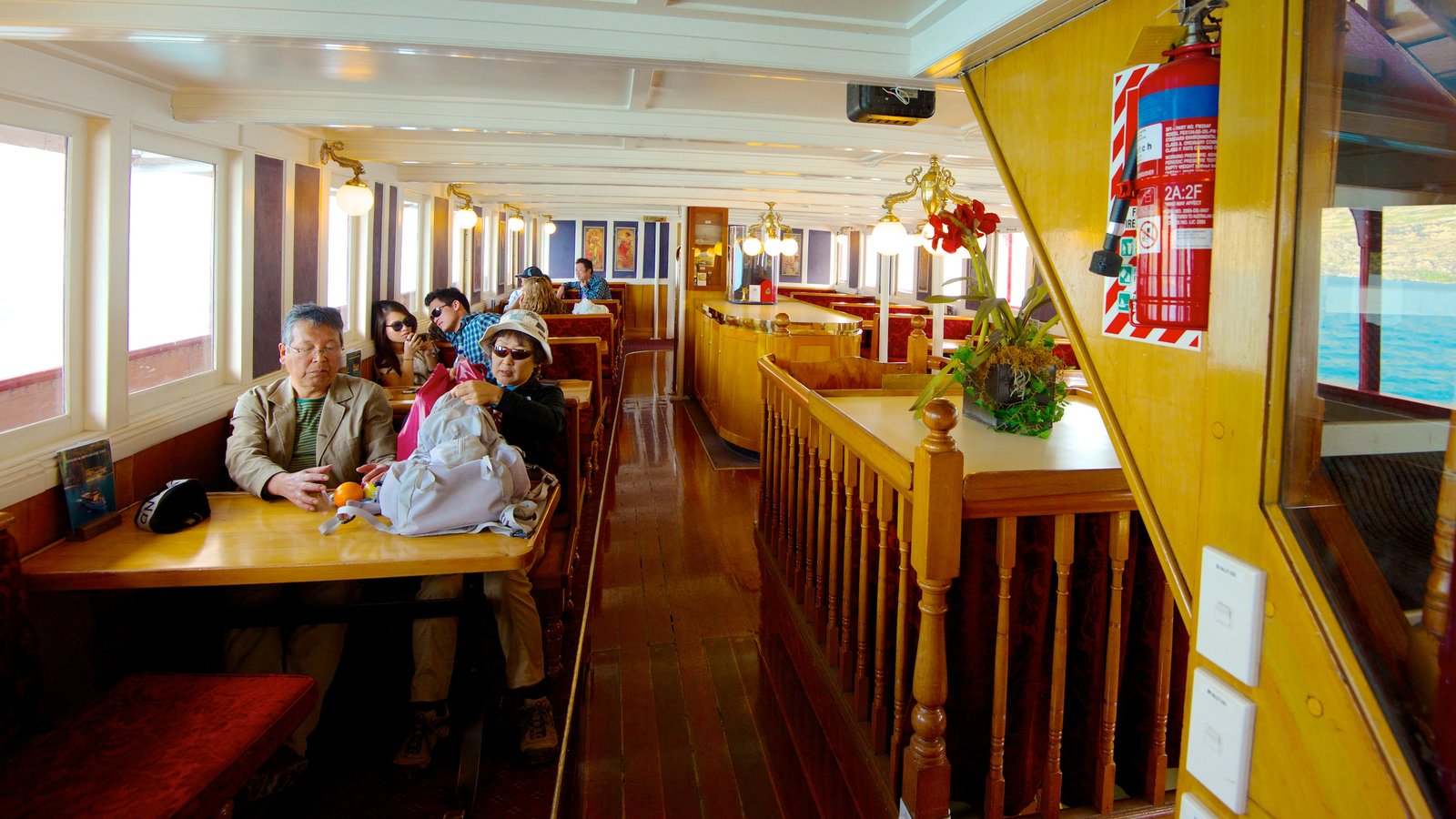 TSS Earnslaw Steamship which includes interior views as well as a family