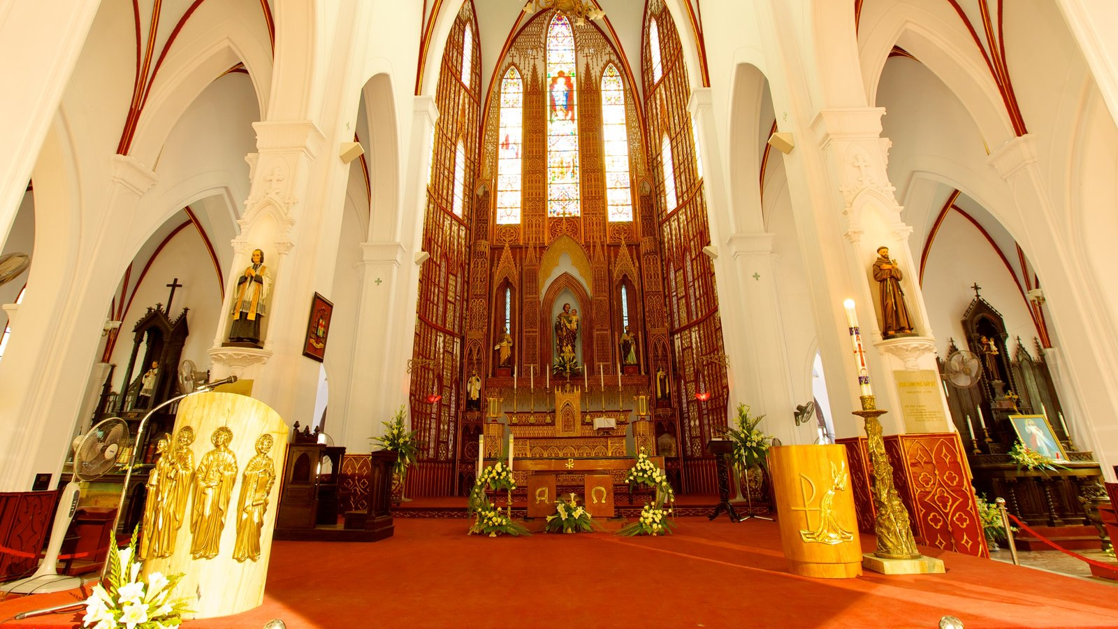 St. Joseph Cathedral featuring interior views, a church or cathedral and religious elements