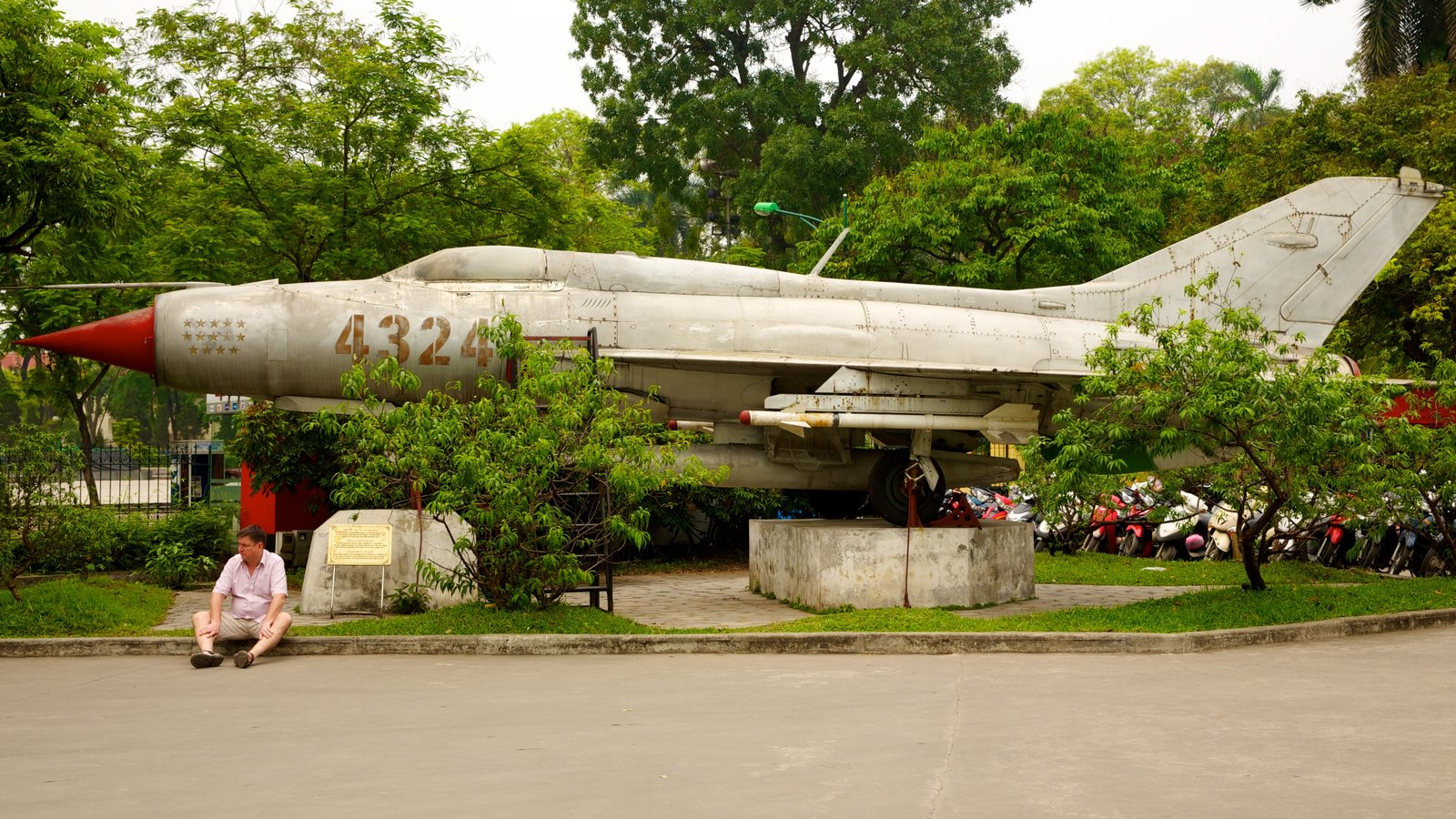 Hanoi War Museum which includes military items and aircraft as well as an individual male