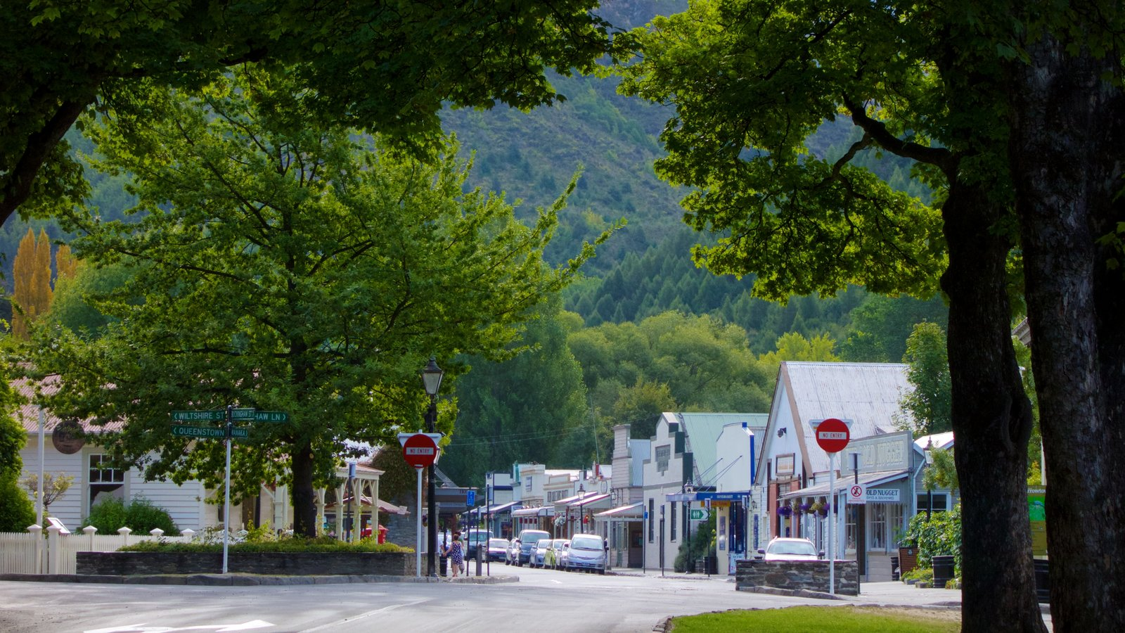 Arrowtown ofreciendo escenas urbanas y una pequeña ciudad o pueblo