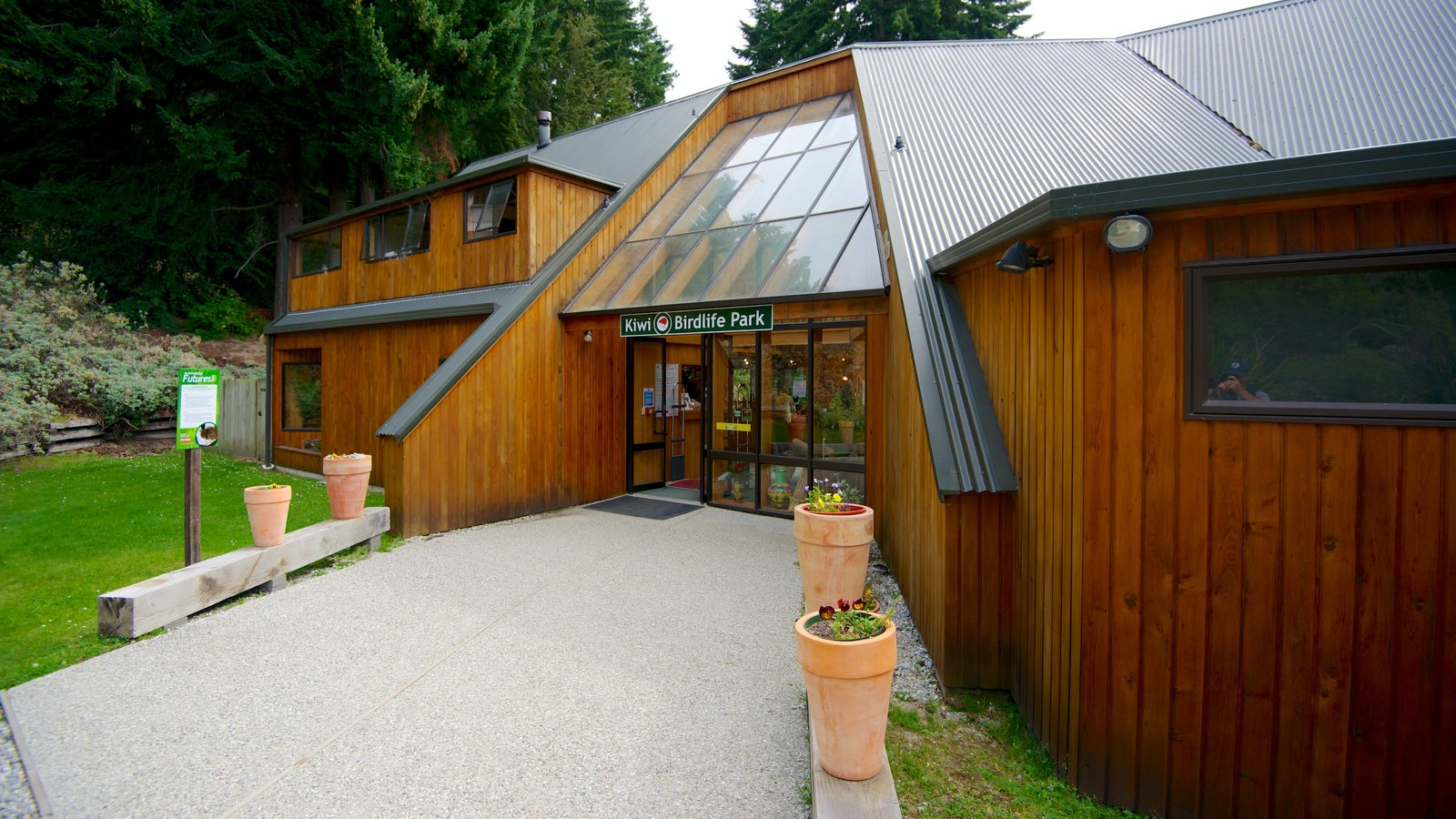 Kiwi and Birdlife Park which includes a house and modern architecture