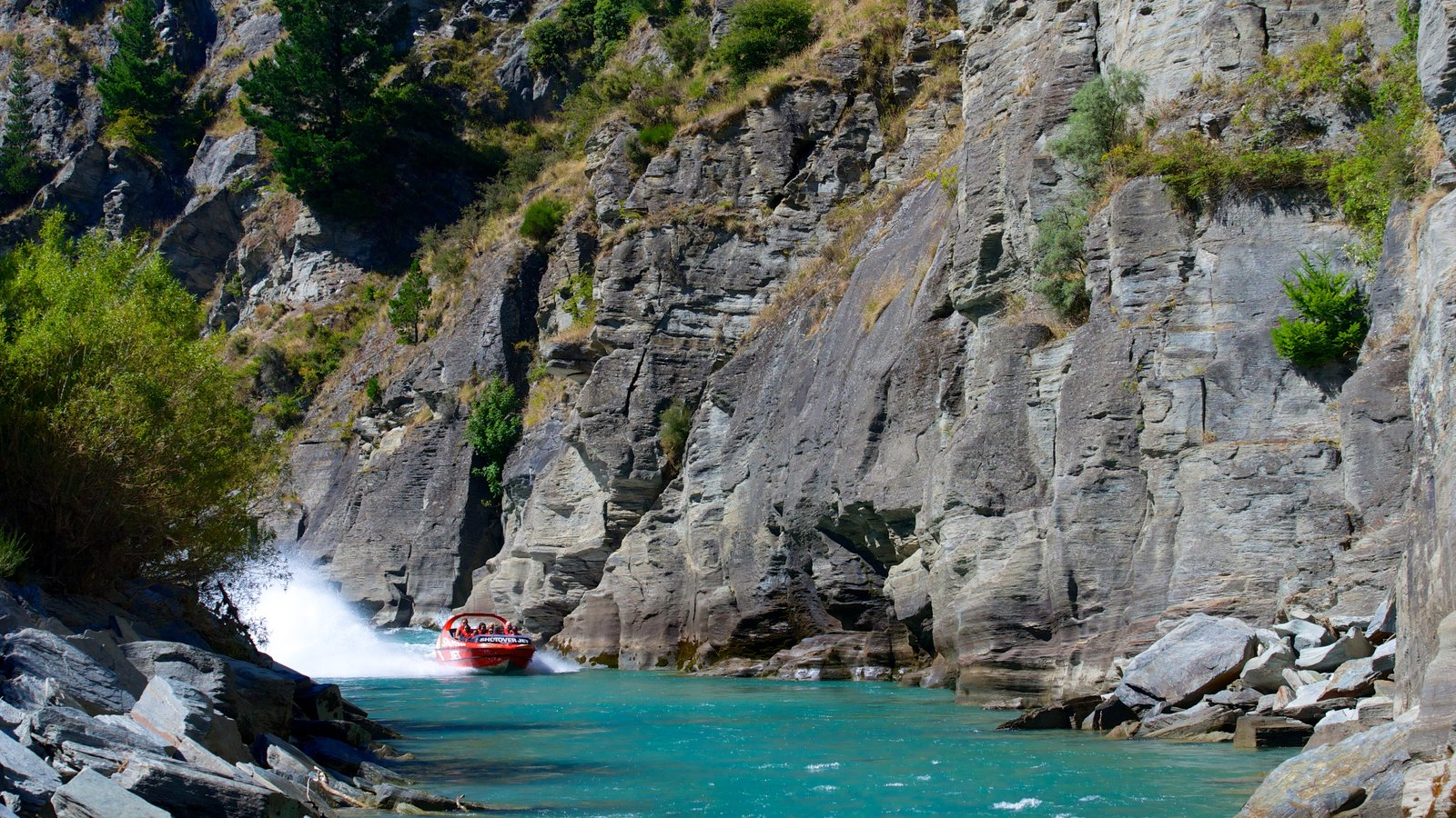 Queenstown featuring boating and a river or creek