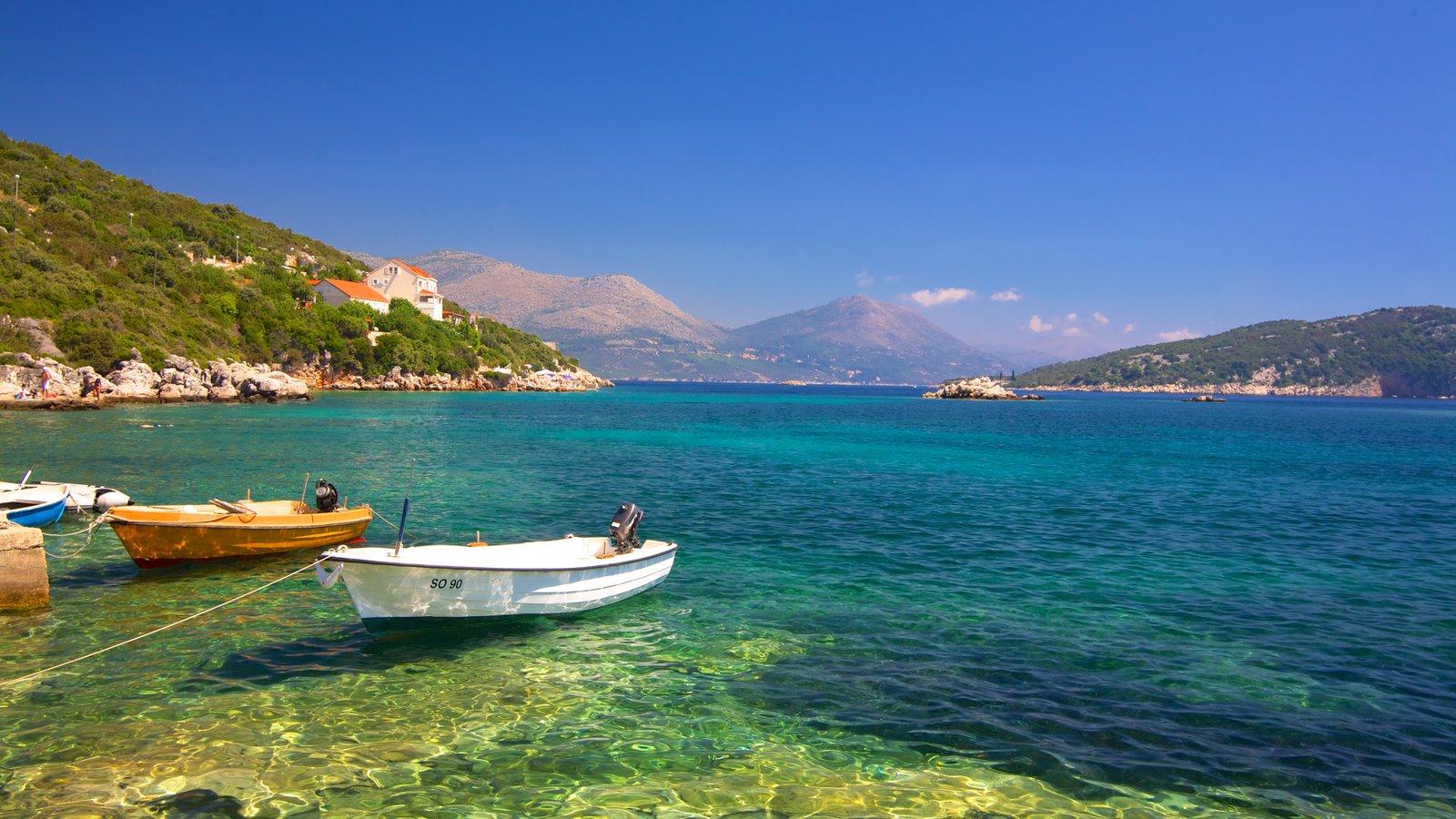 Dubrovnik - Southern Dalmatia showing general coastal views, boating and mountains
