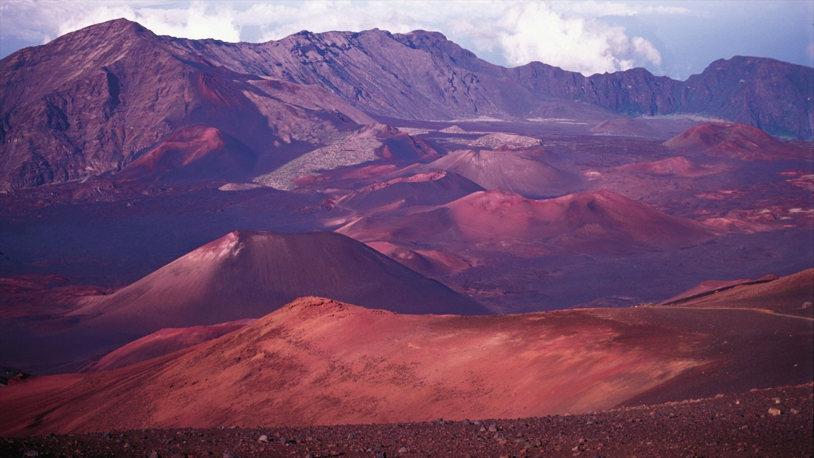 Haleakala Crater which includes tranquil scenes, mountains and landscape views