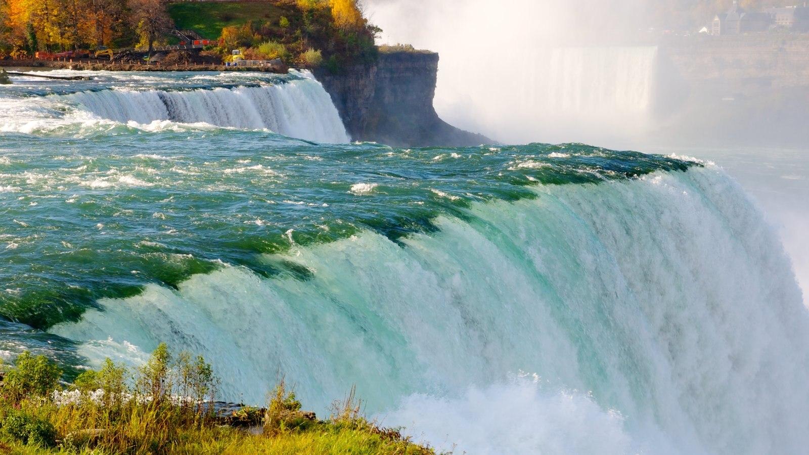 Niagara Falls mostrando paisagem, uma cascata e paisagens