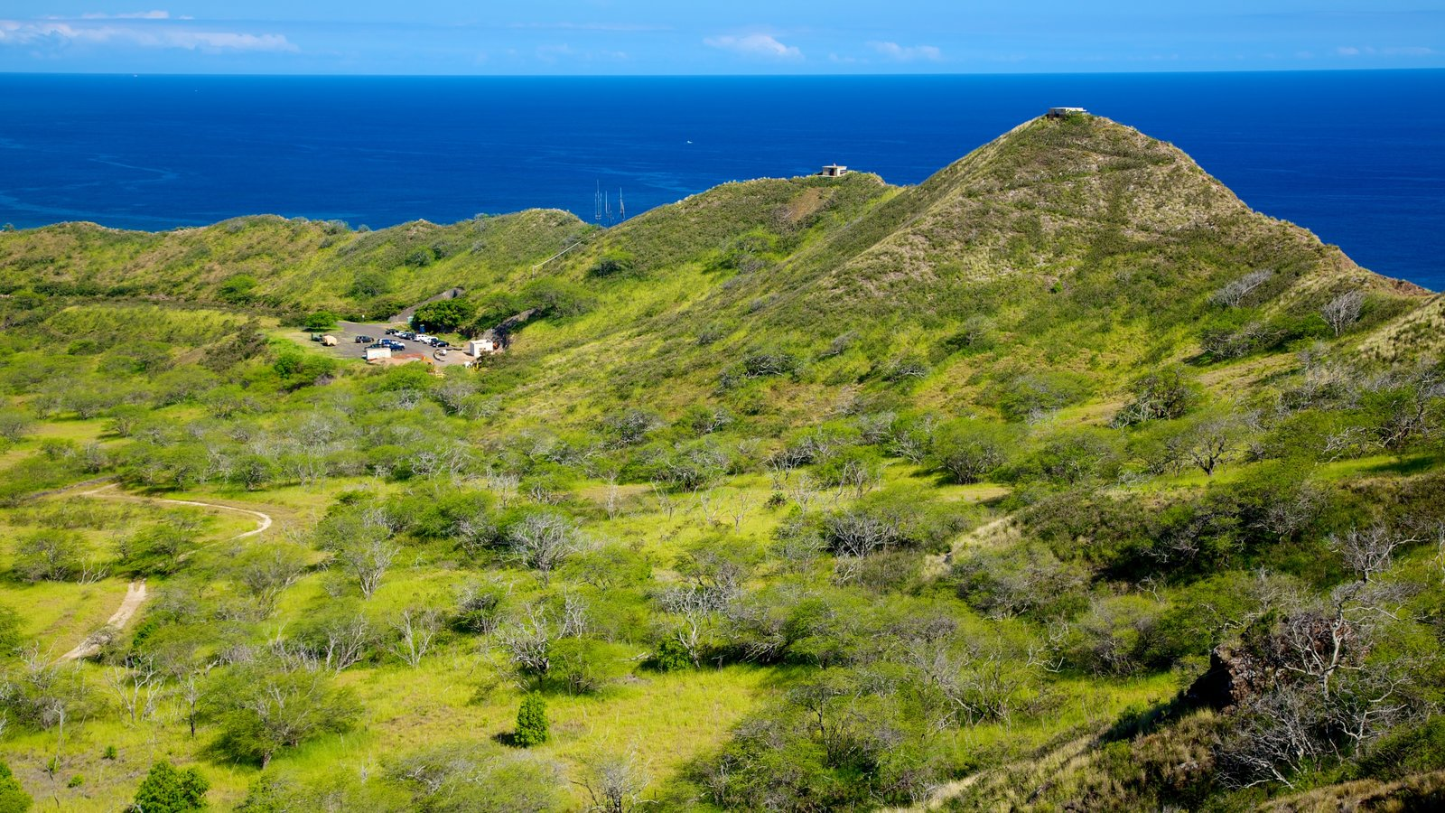 Oahu Island showing landscape views, tranquil scenes and general coastal views
