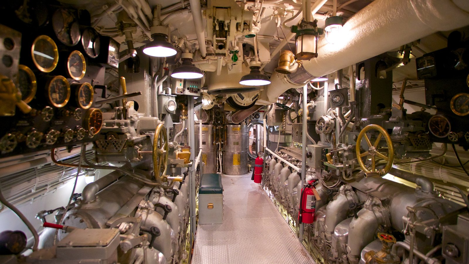 USS Bowfin Submarine Museum and Park featuring interior views