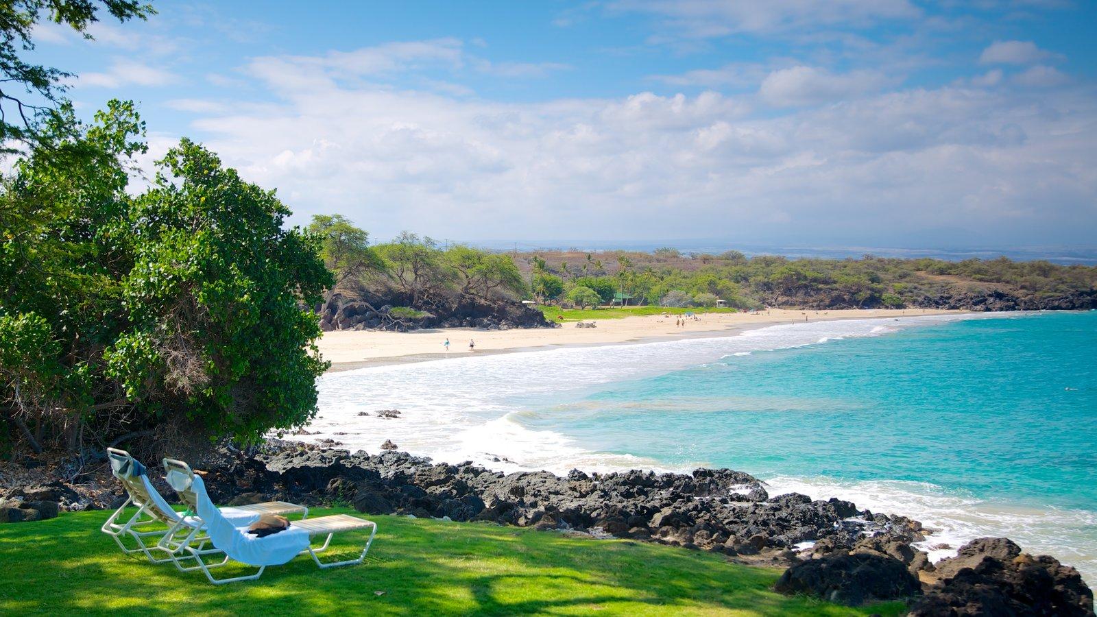 Hapuna Beach State Park Featuring A Park, Landscape Views And A Beach