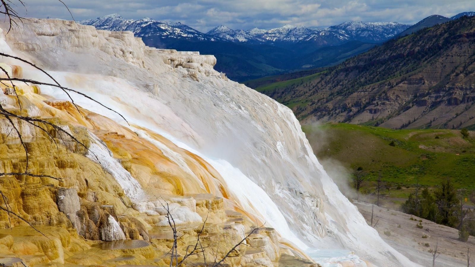 Yellowstone National Park caracterizando paisagem e montanhas