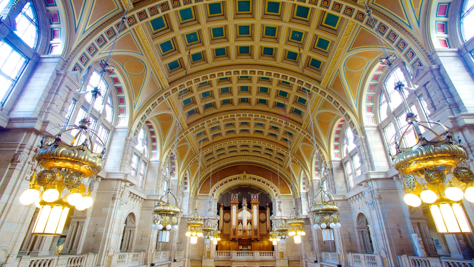 Kelvingrove Art Gallery and Museum featuring interior views and art